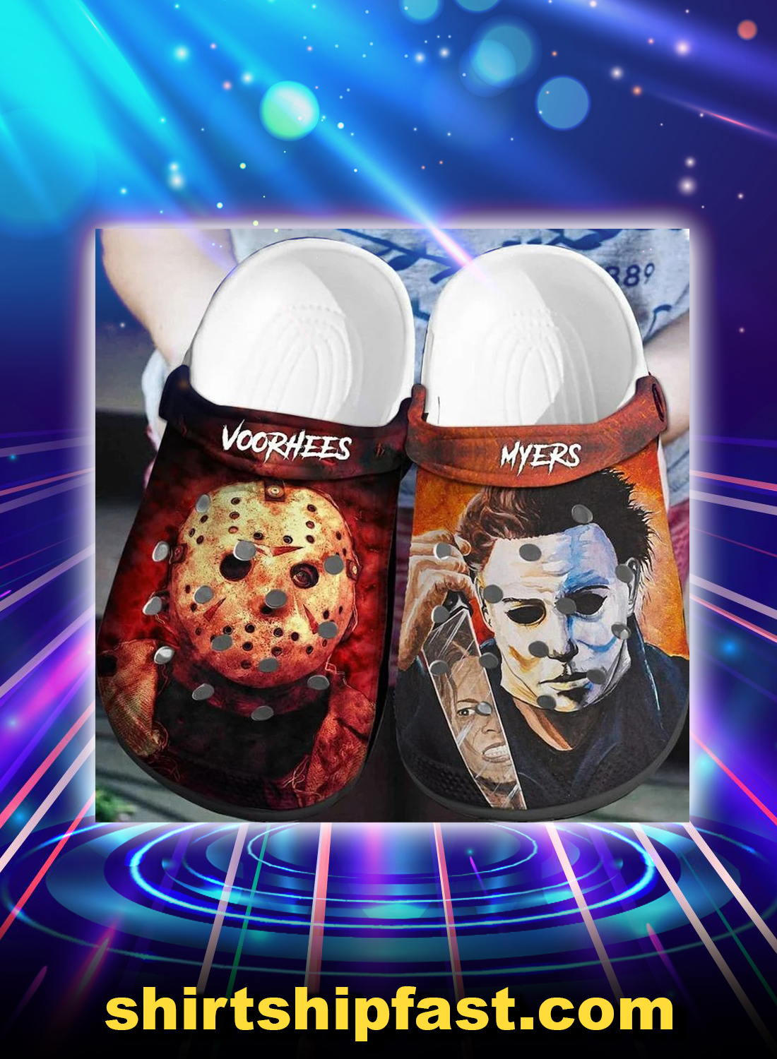 Jason voorhees and michael myers crocs crocband clog - Picture 1