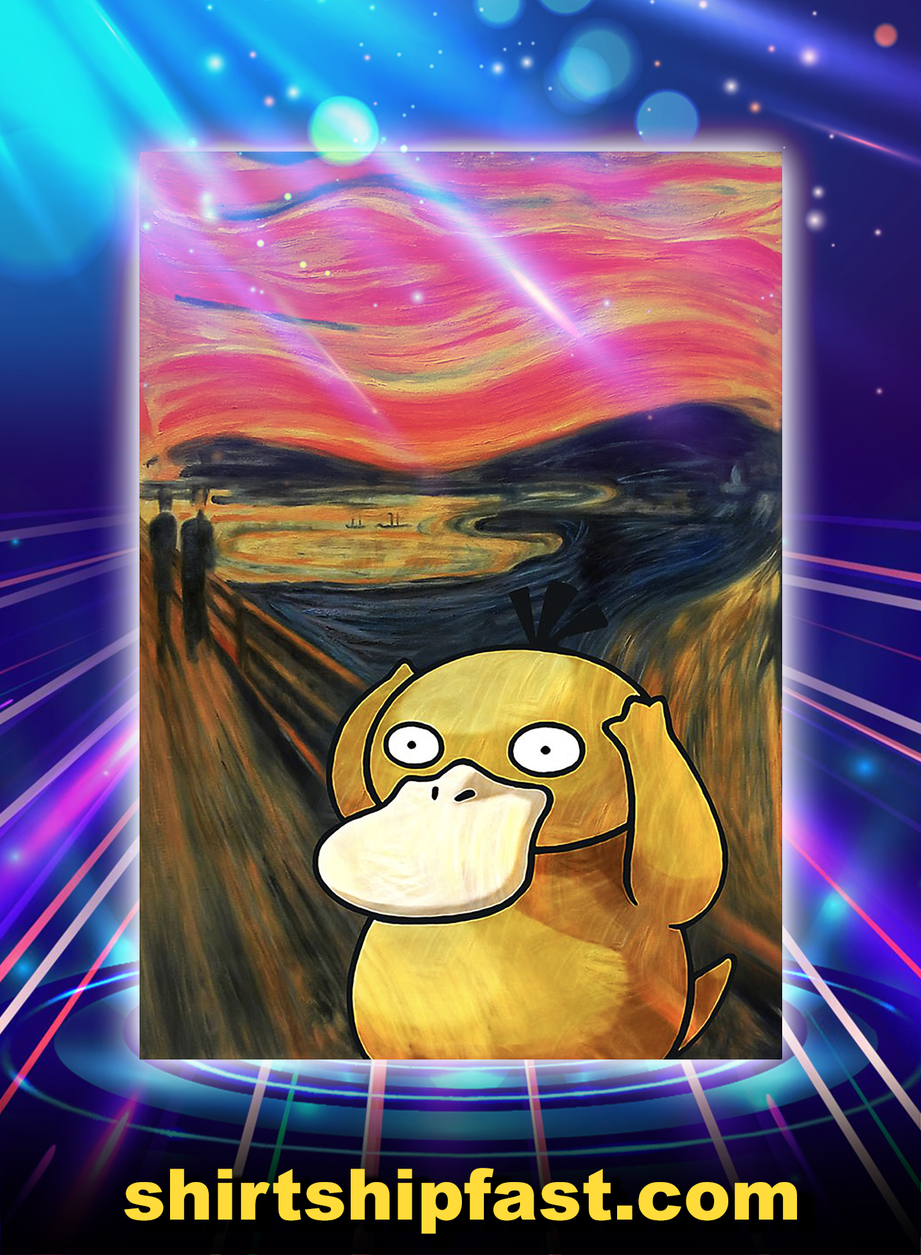 Koduck psyduck scream poster - A4