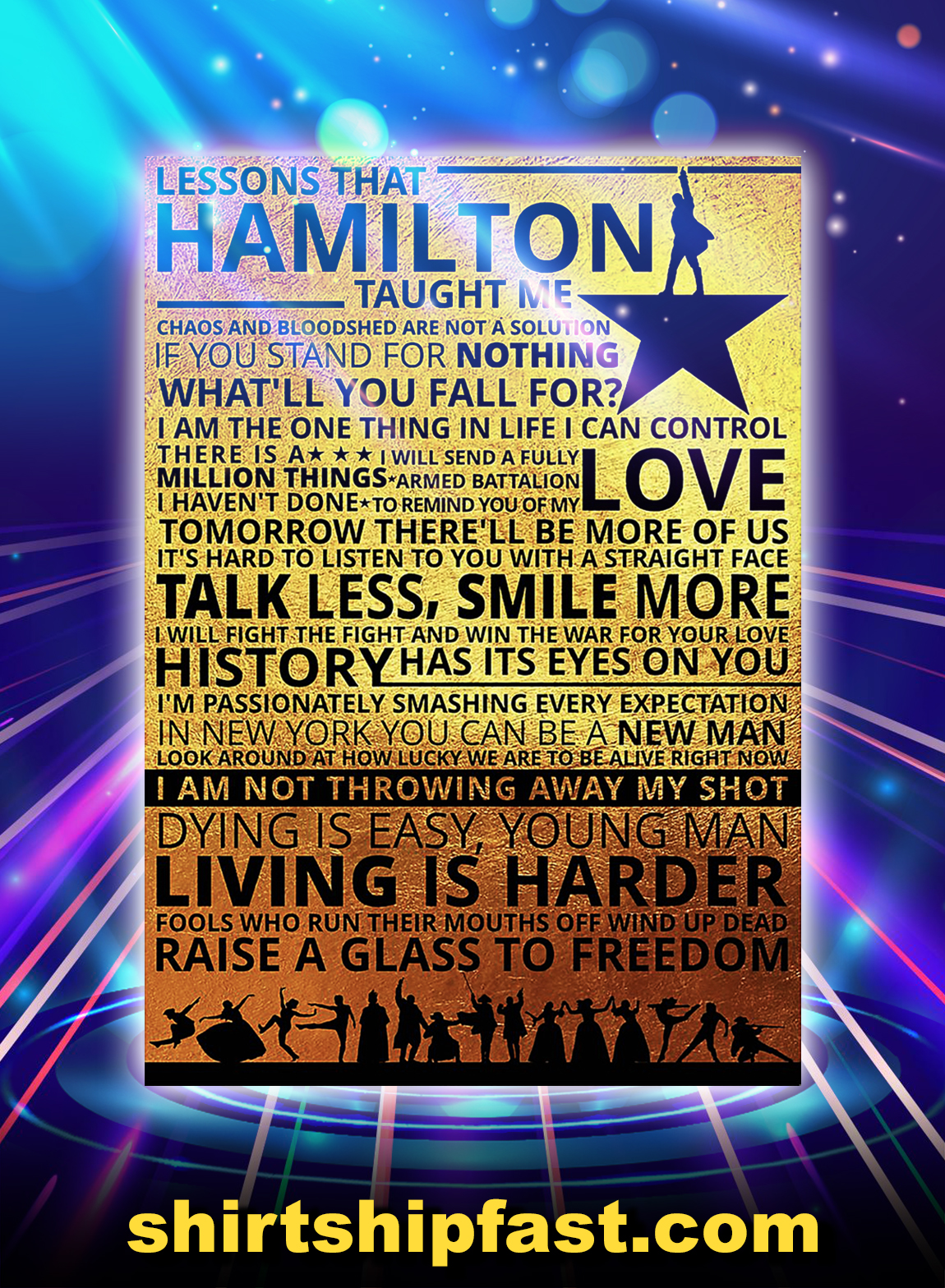 Lessons hamilton taught me poster - A3