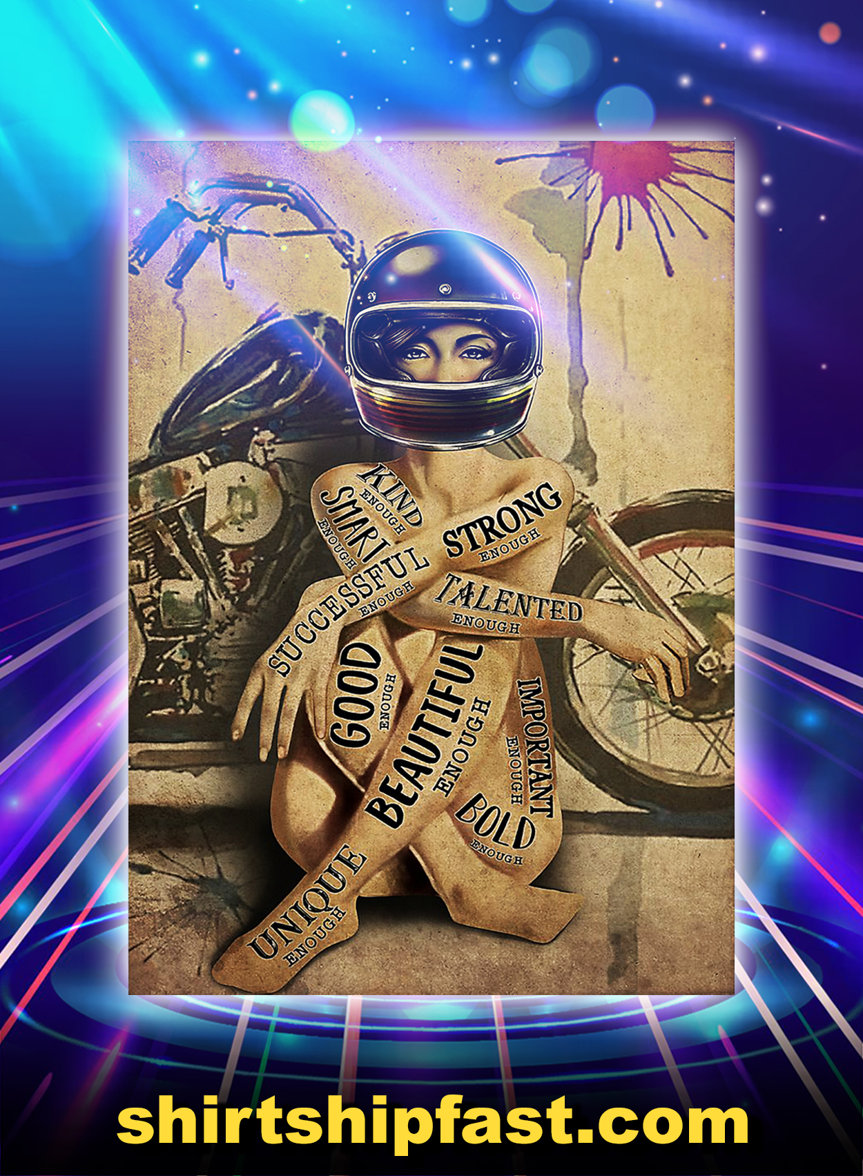 Motorcycle girl i am poster - A3