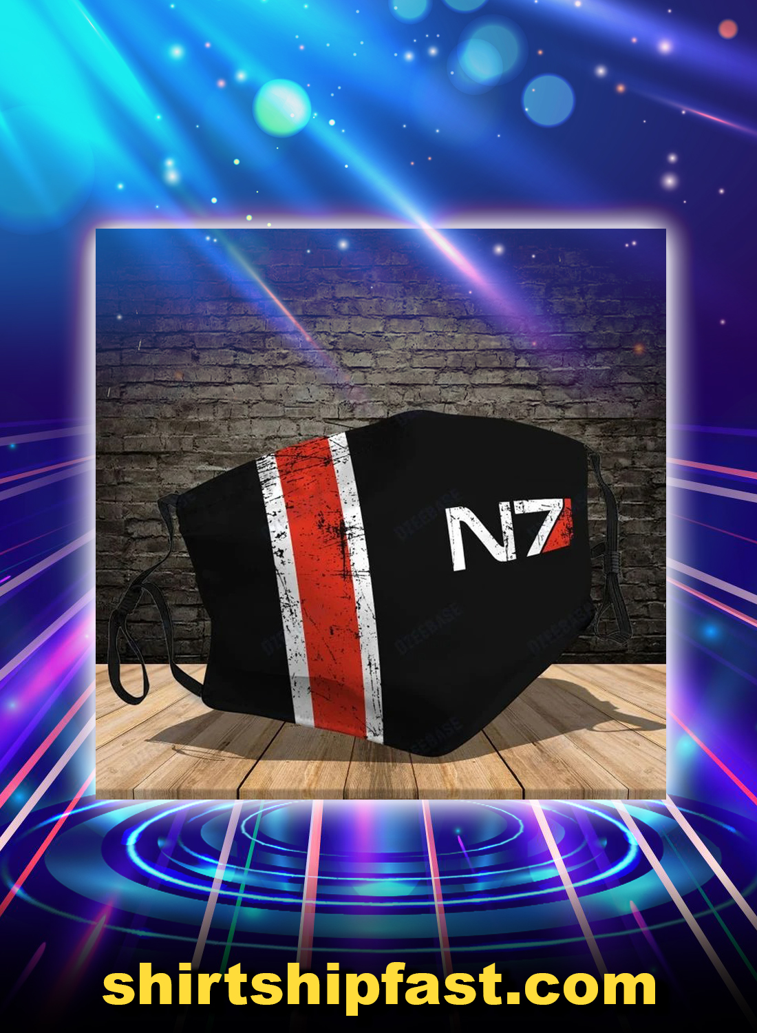 N7 mass effect face mask - Picture 1