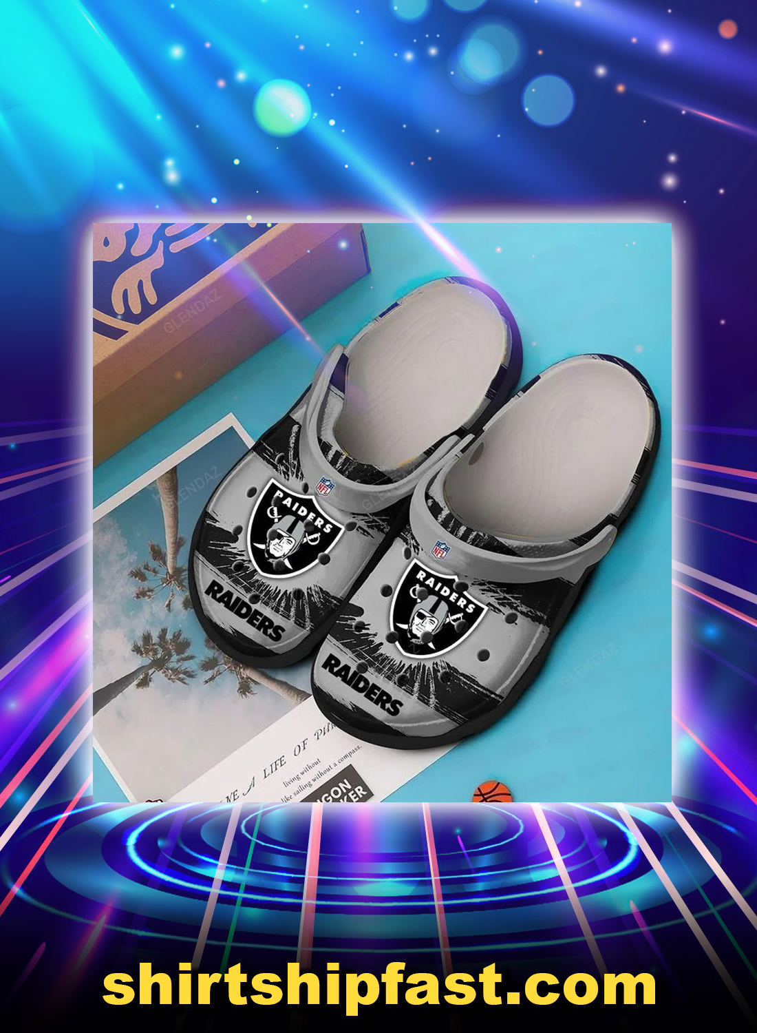 Oakland raiders crocs crocband clog - Picture 1