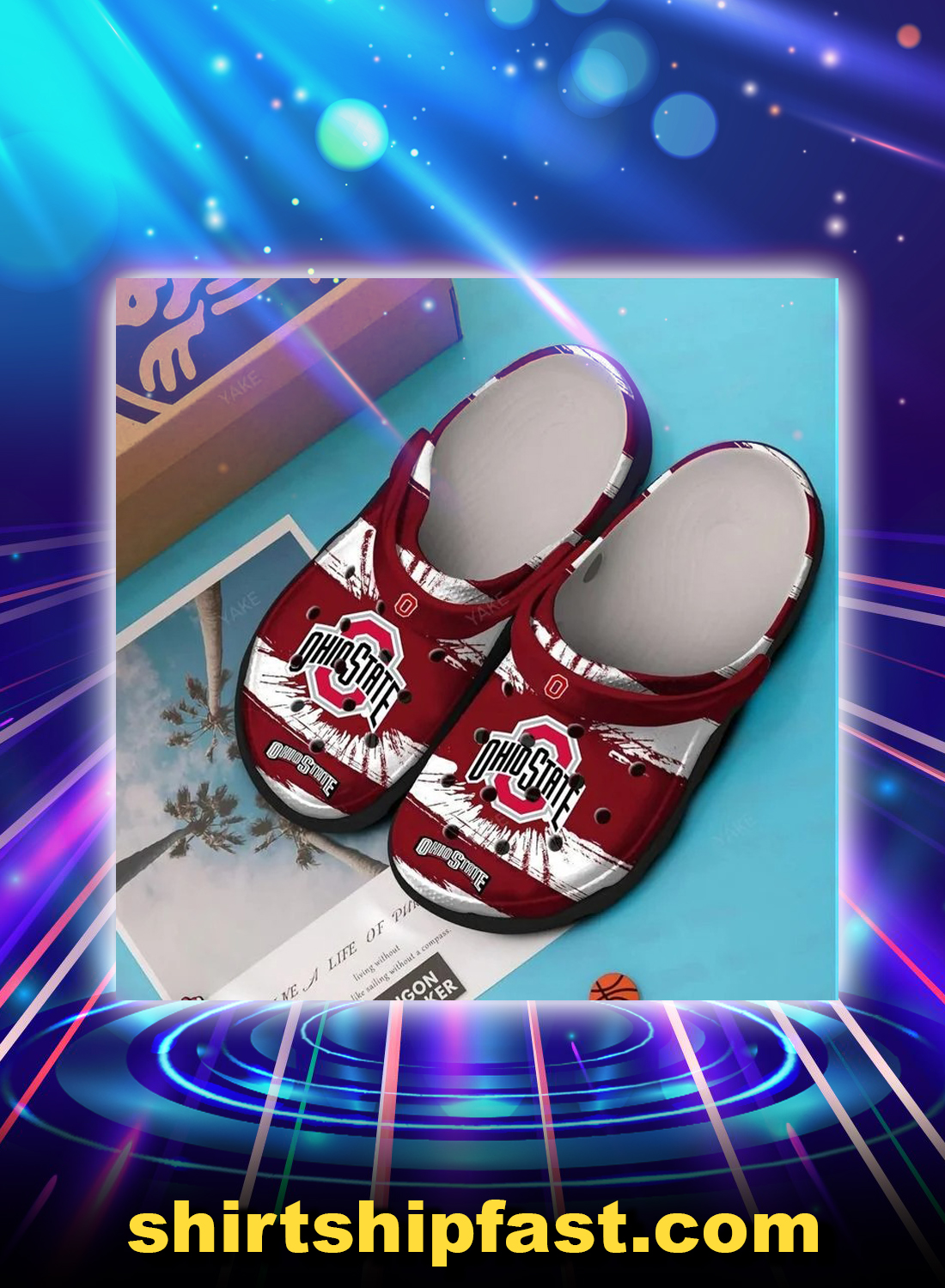 Ohio state buckeyes crocs crocband clog - Picture 1