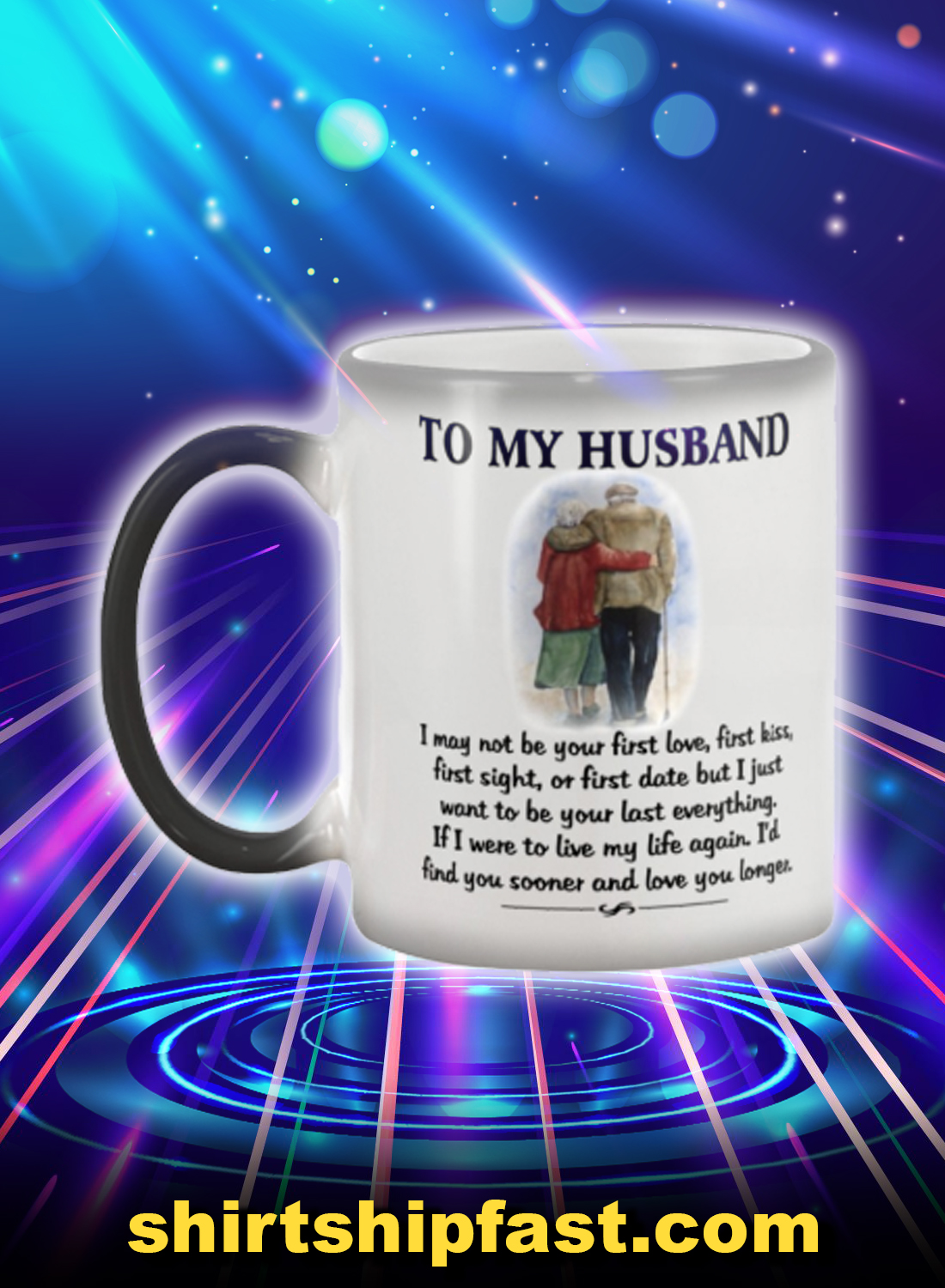 Old couple to my husband mug - Picture 1