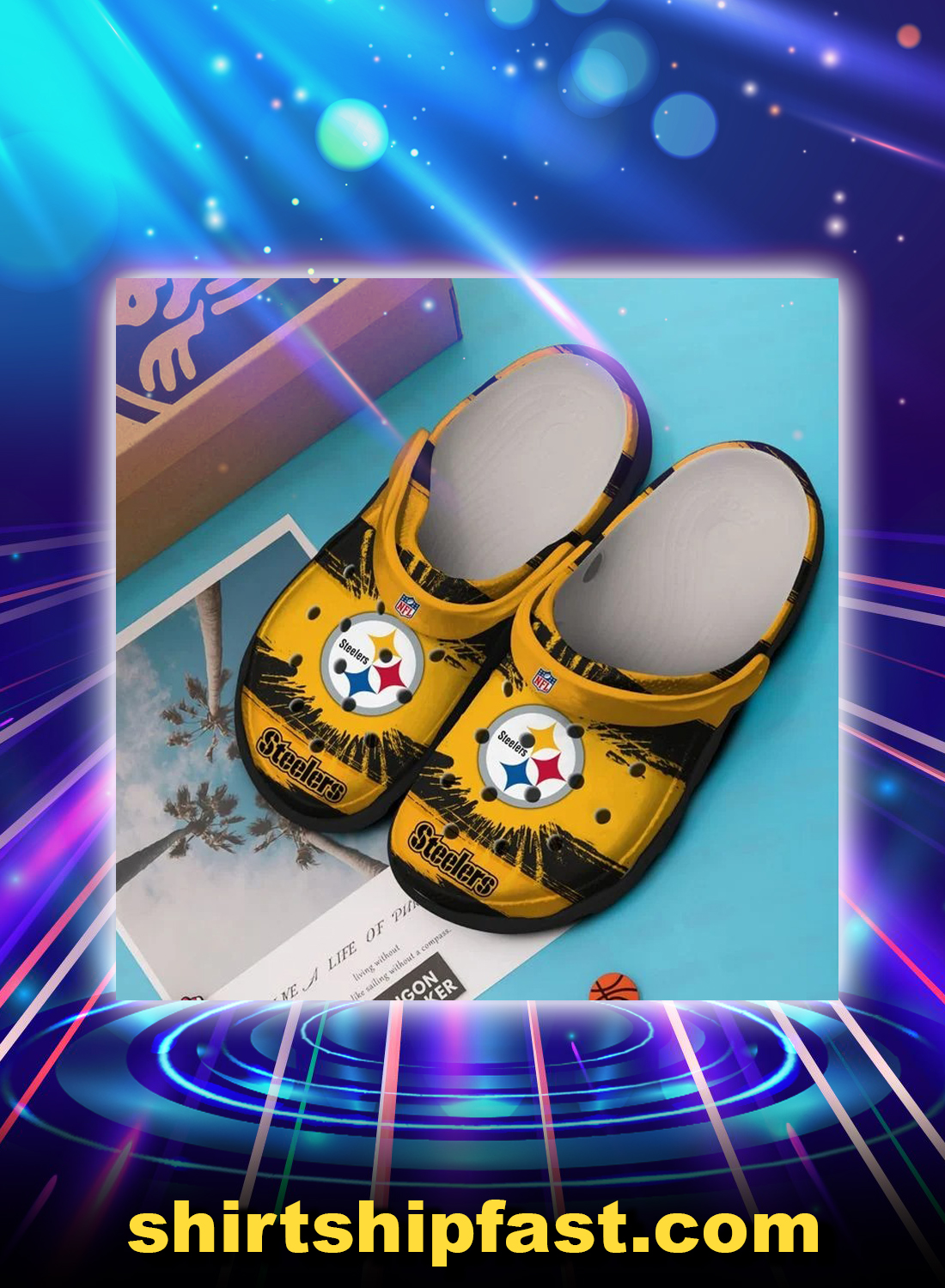 Pittsburgh steelers crocs crocband clog - Picture 1