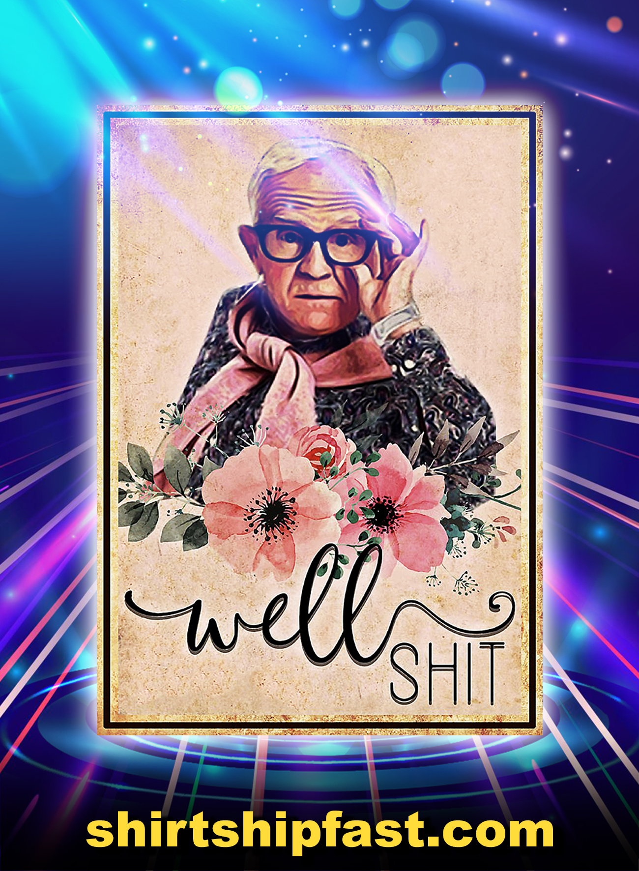 Poster Leslie Jordan Well Shit - A4