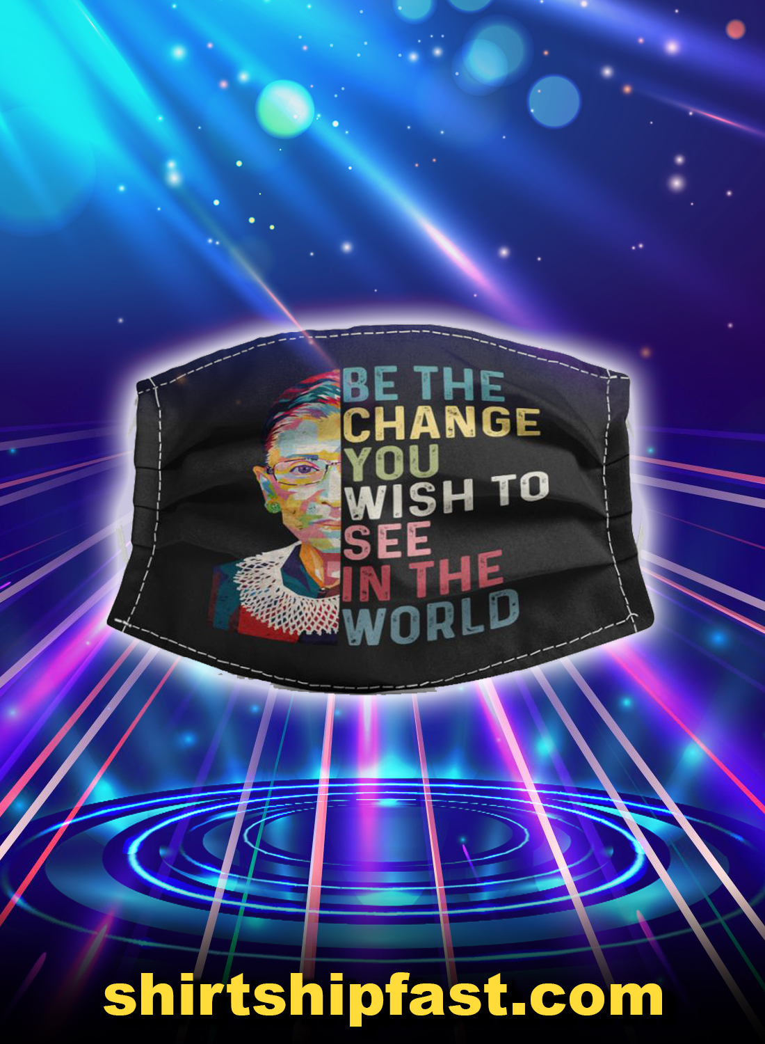 Rbg be the change you wish to see in the world face mask - Picture 1