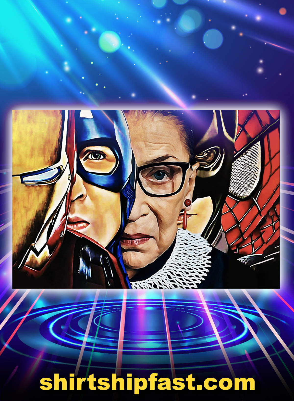 Rbg super heroes poster - A4
