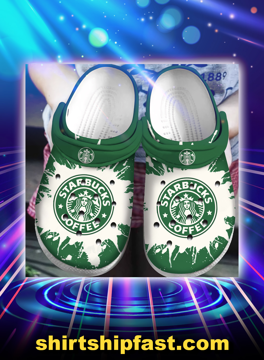 Starbucks coffee crocband crocs shoes - Picture 1