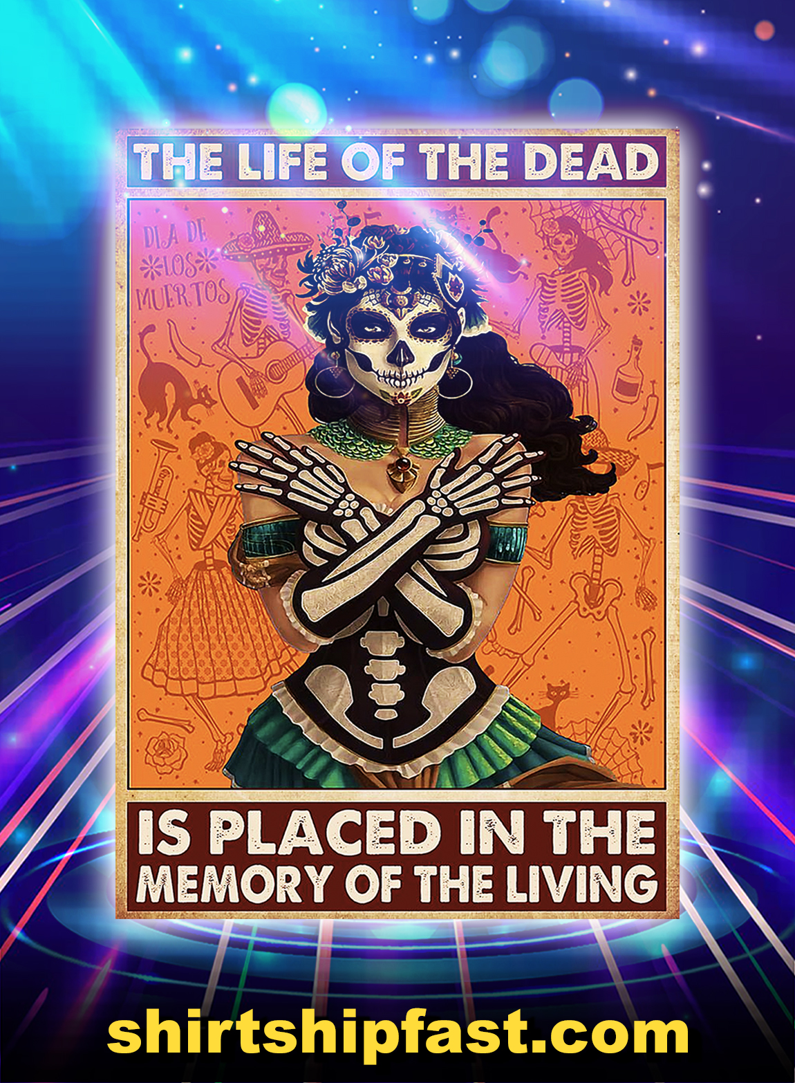 The life of the dead is placed in the memory of the living poster - A2