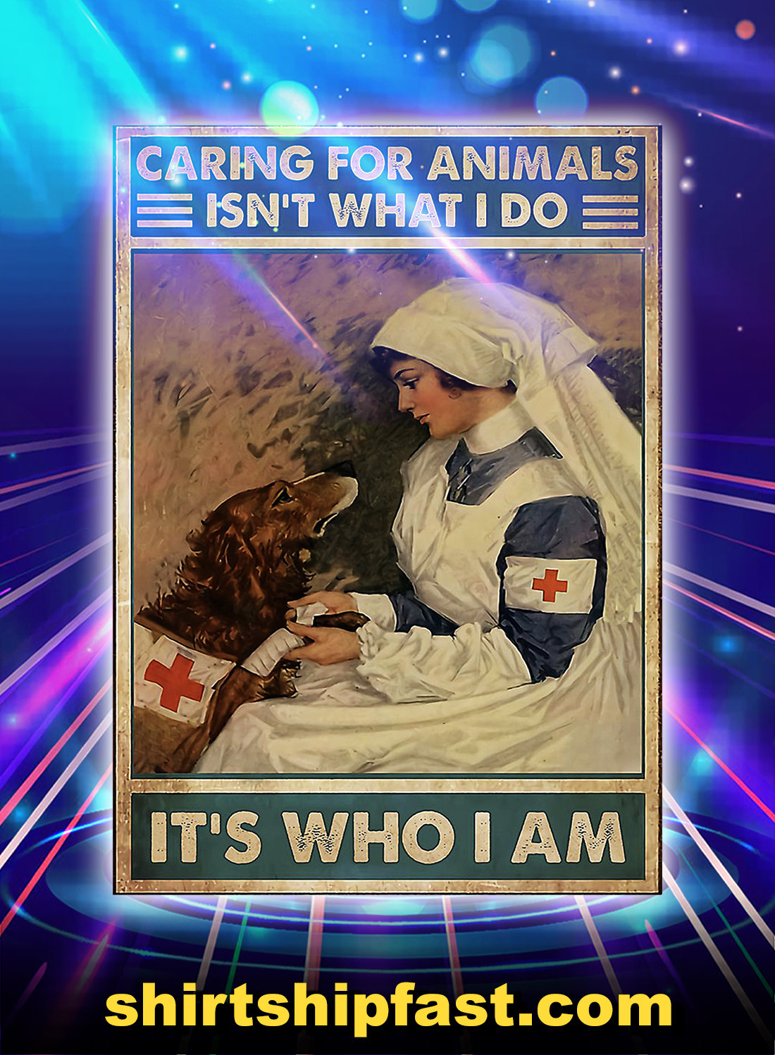 Veterinarian caring for animals isn't what i do it's who i am poster - A4