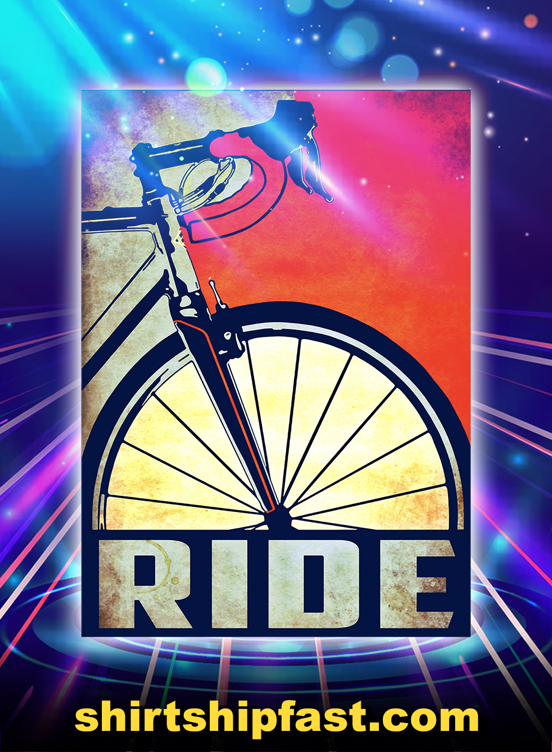 Cycling Bicycle ride poster - A4