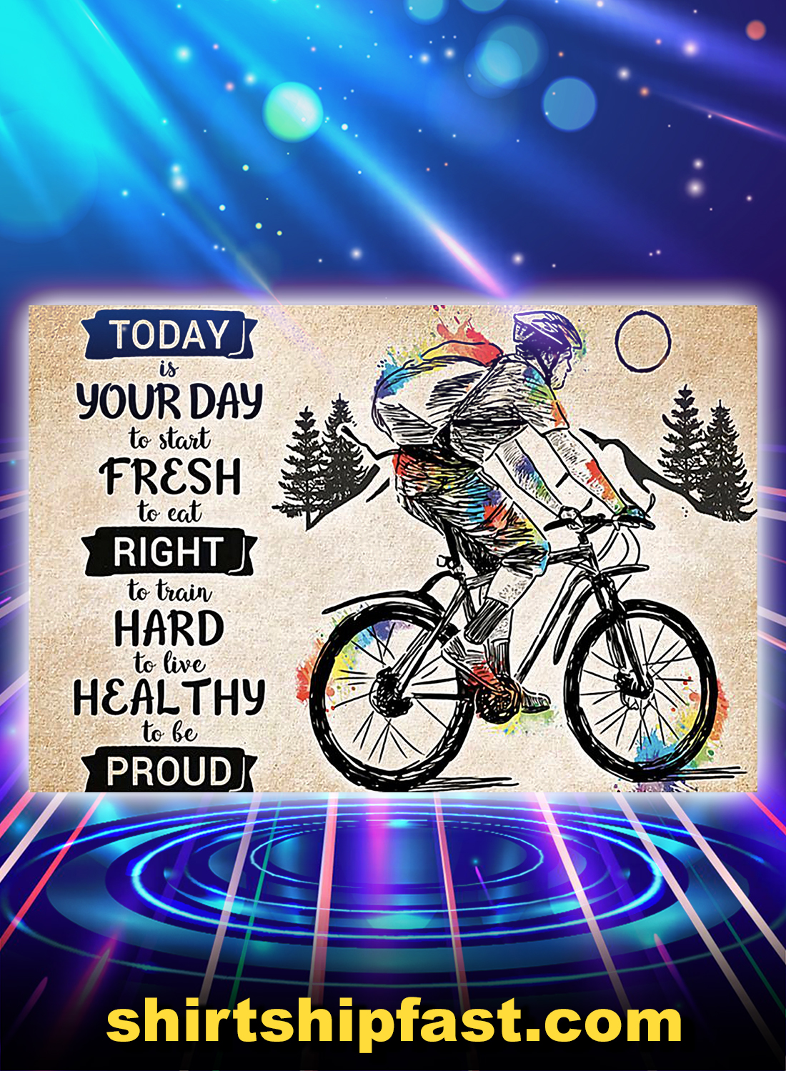 Cycling heathy to be proud poster - A4