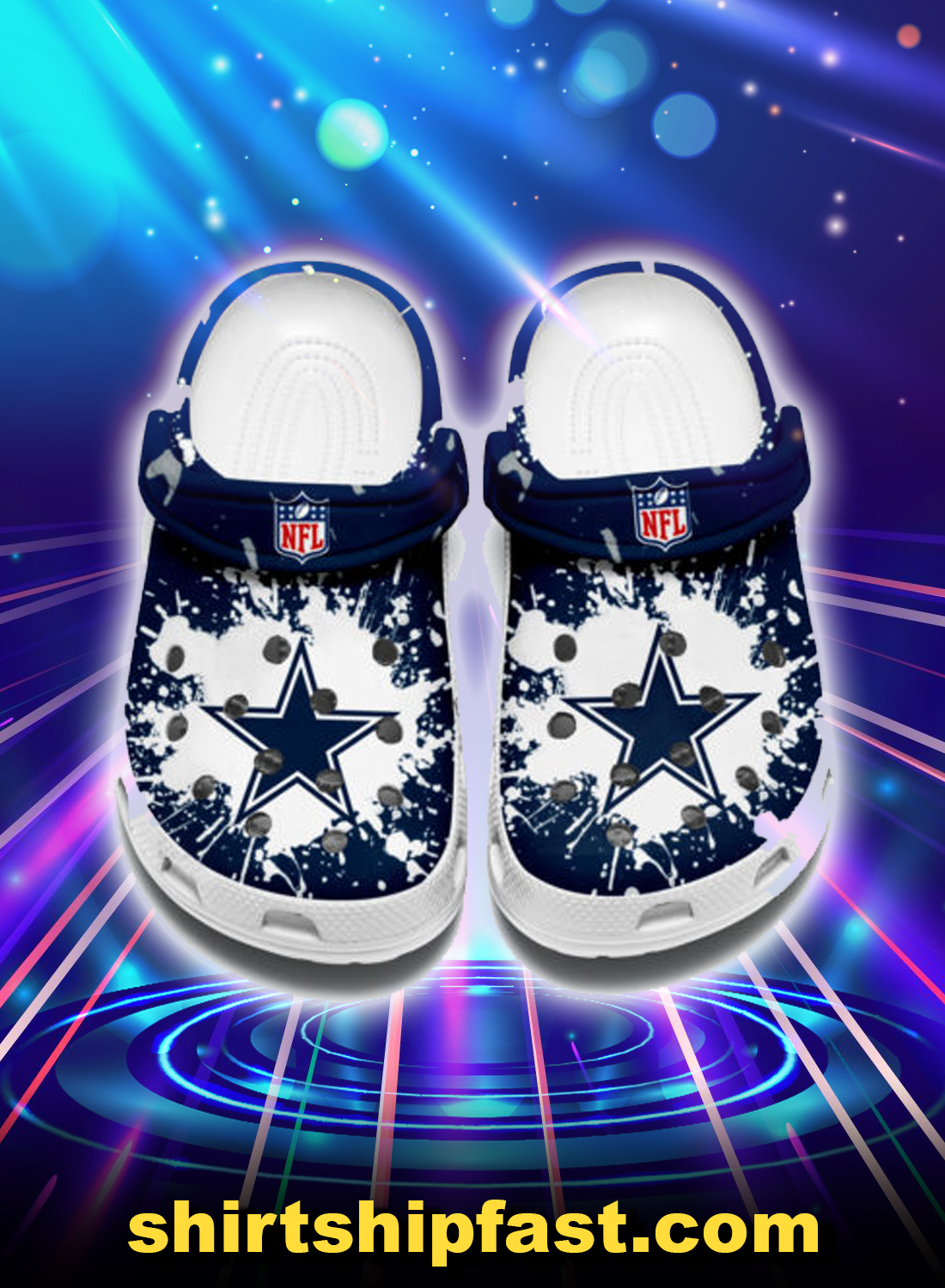 Dallas cowboys crocband crocs shoes - Picture 1