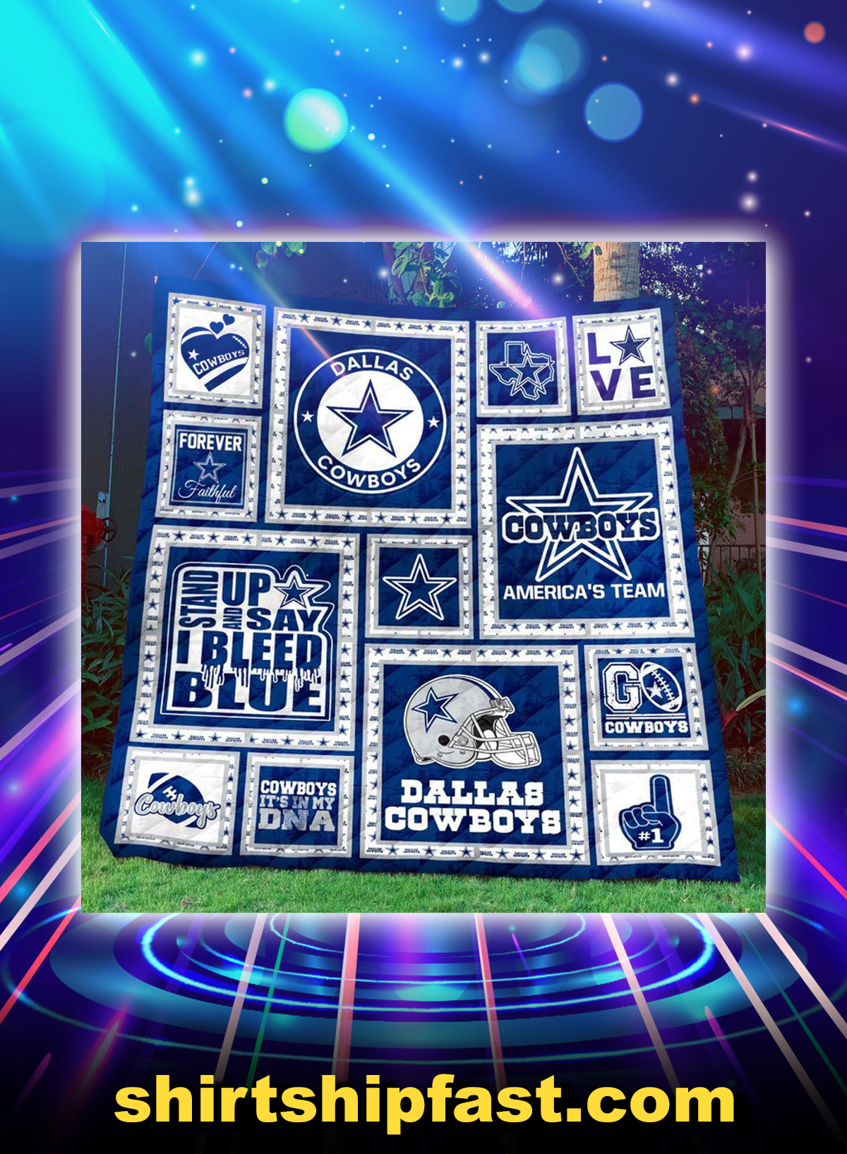 Dallas cowboys quilt blanket - Picture 1