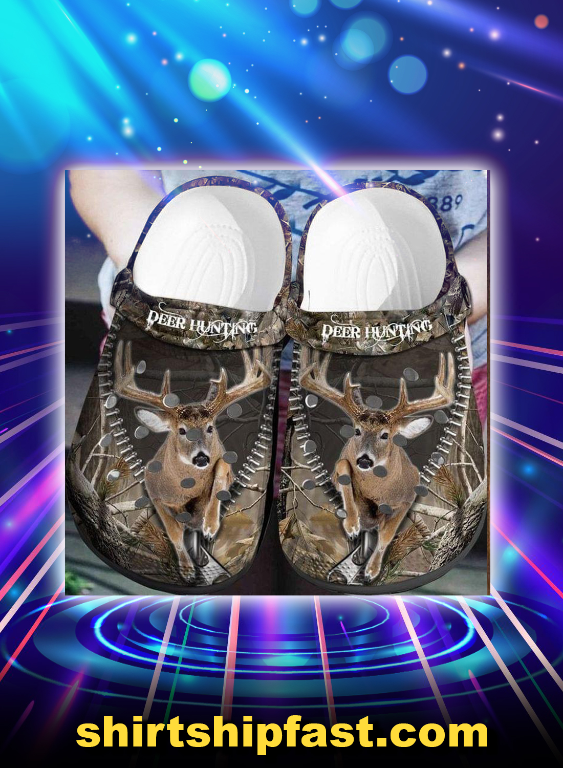 Deer hunting crocband crocs shoes - Picture 1