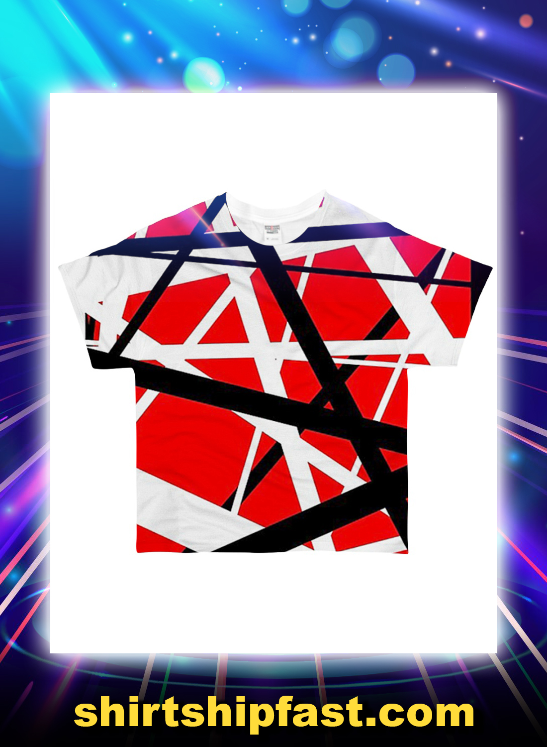 Eddie van halen all over printed 3d t-shirt - Picture 1