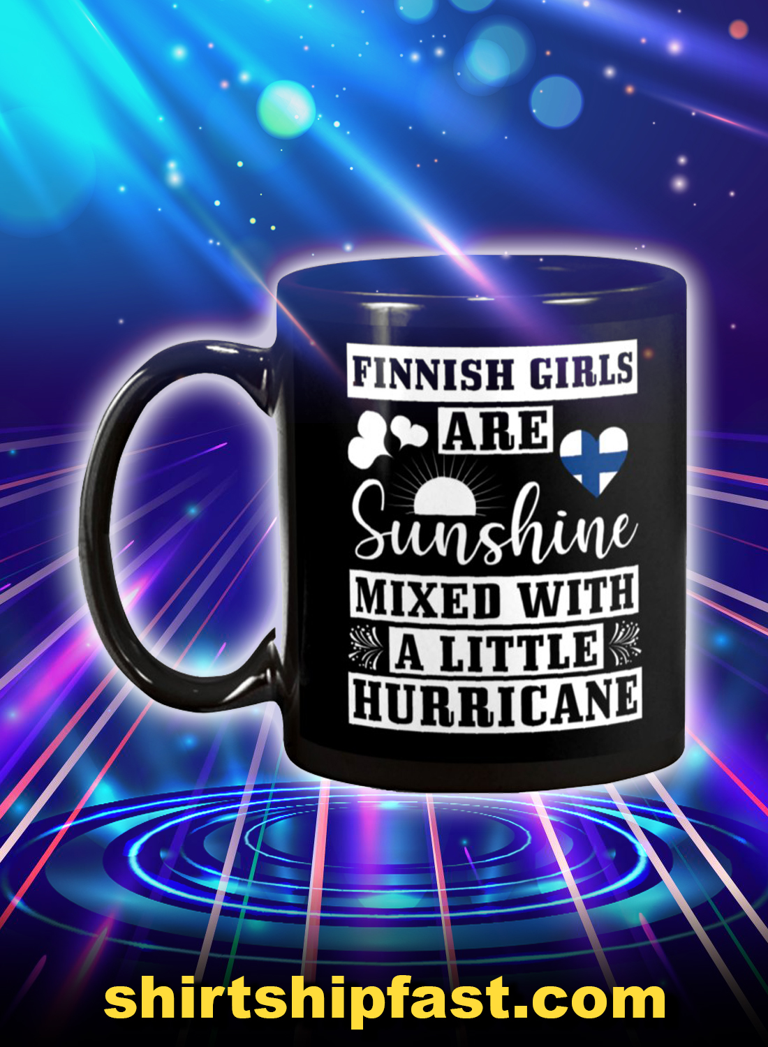 Finnish girls are sunshine mixed with a little hurricane mug - Picture 1