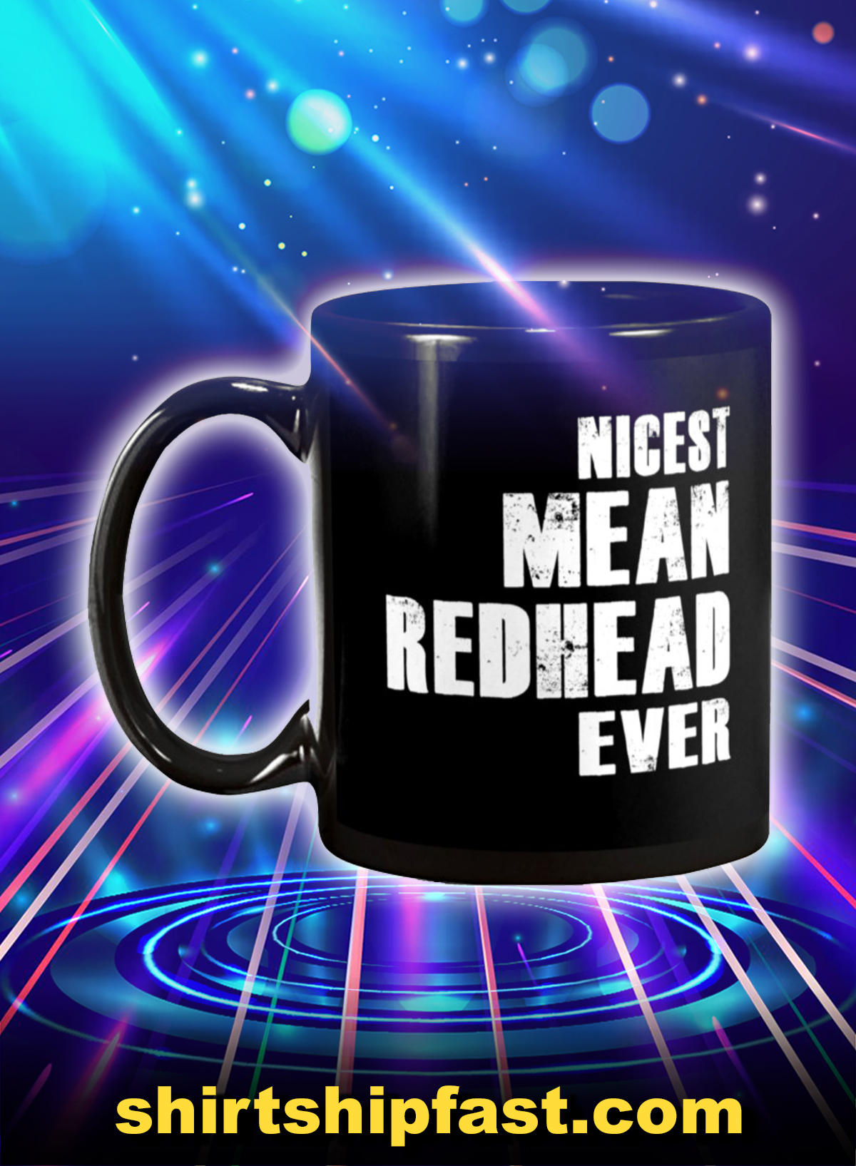 Nicest mean redhead ever mug - Picture 1