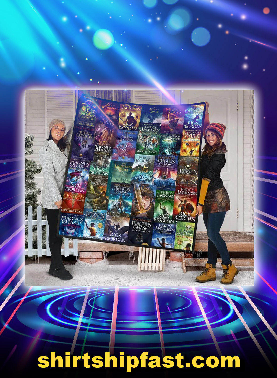 Percy jackson and magnus chase book covers quilt blanket - Picture 1
