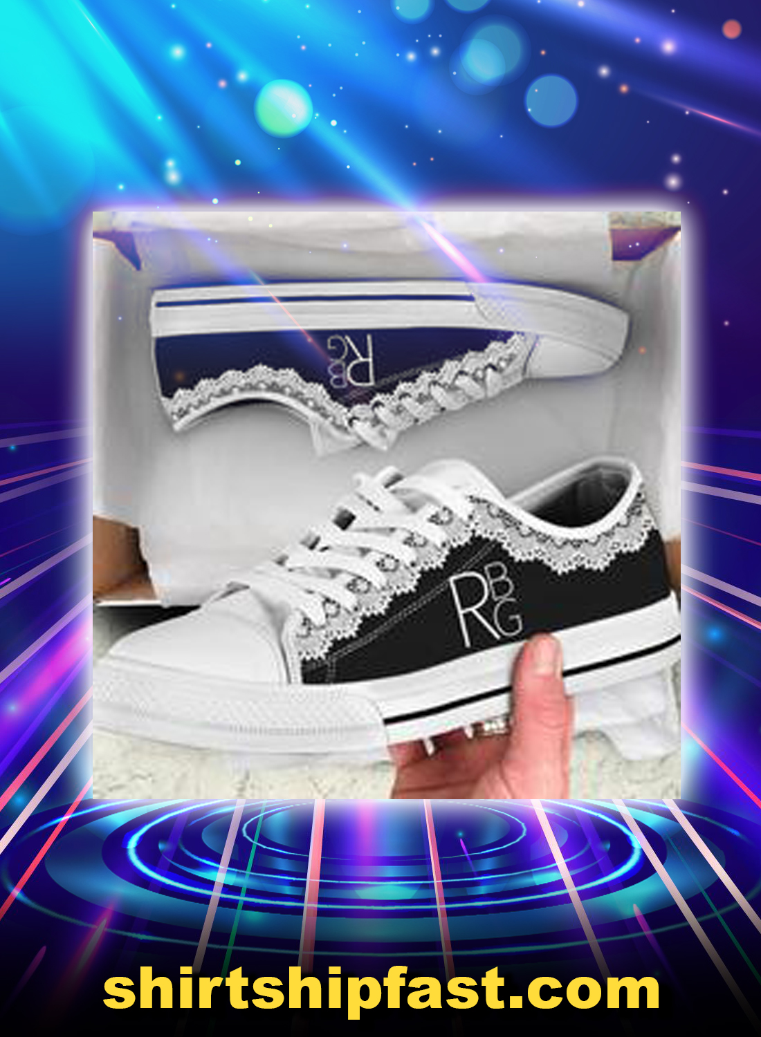 RBG collar low top shoes - Picture 1