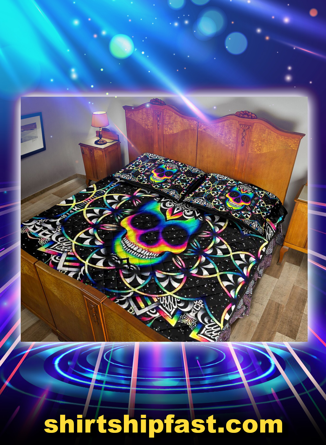 Skull colorful bed set - Picture 1