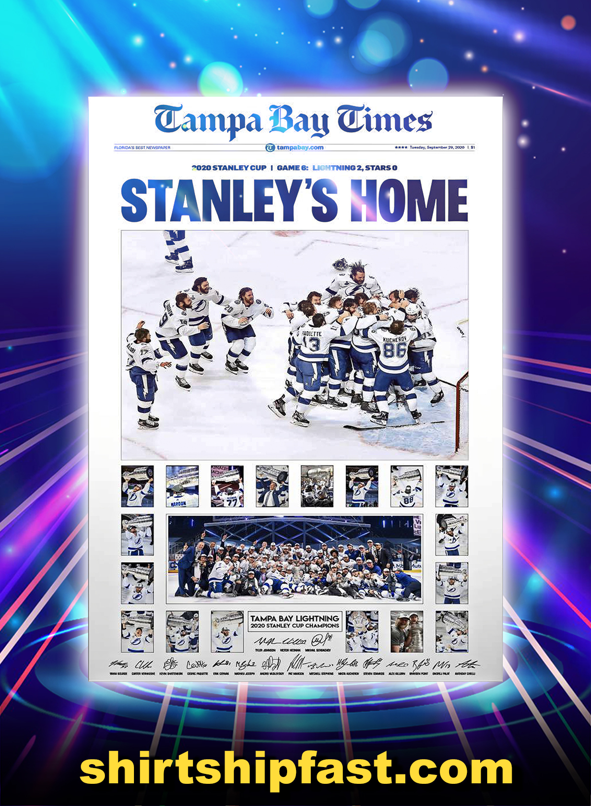 Tampa bay lightning champions poster - A4