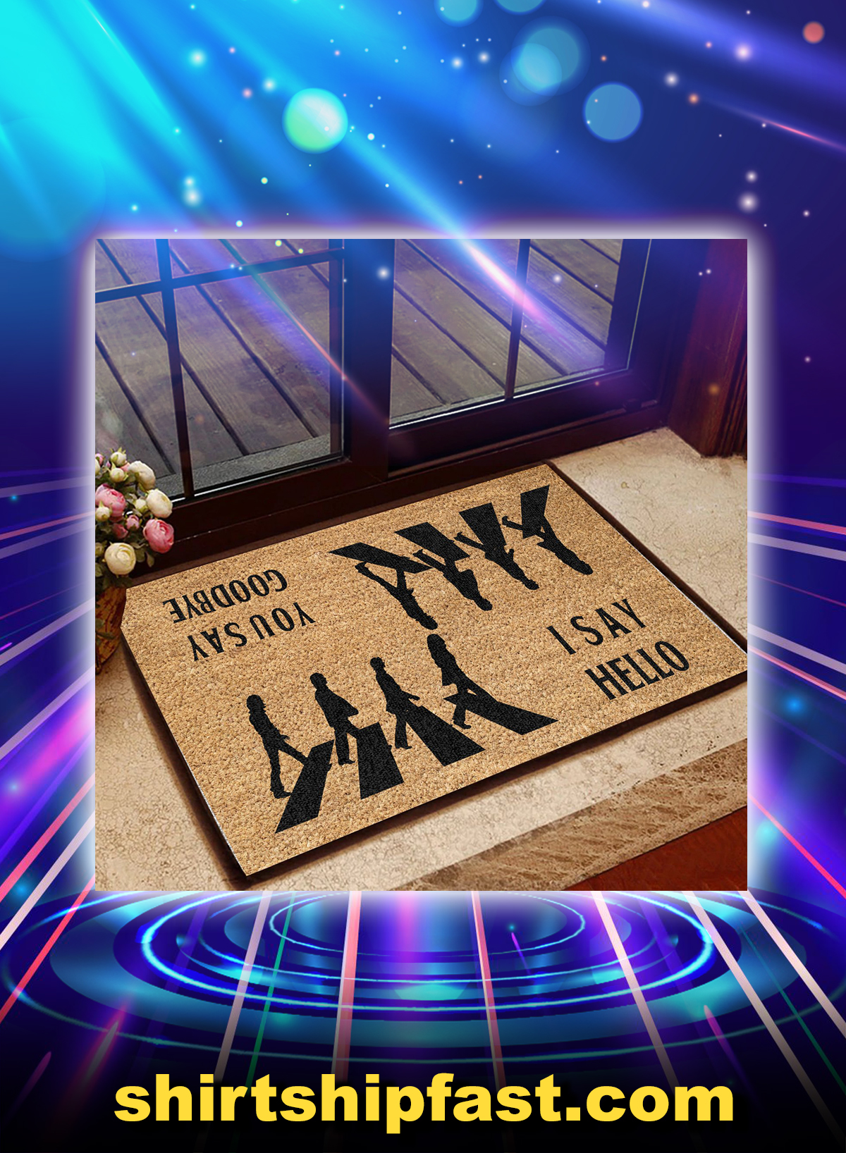 The beatles You say goodbye i say hello doormat - Picture 1