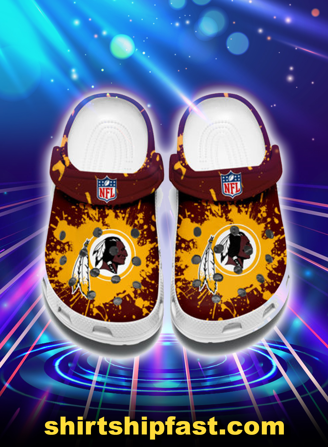 WASHINGTON REDSKINS crocband crocs shoes - Picture 1