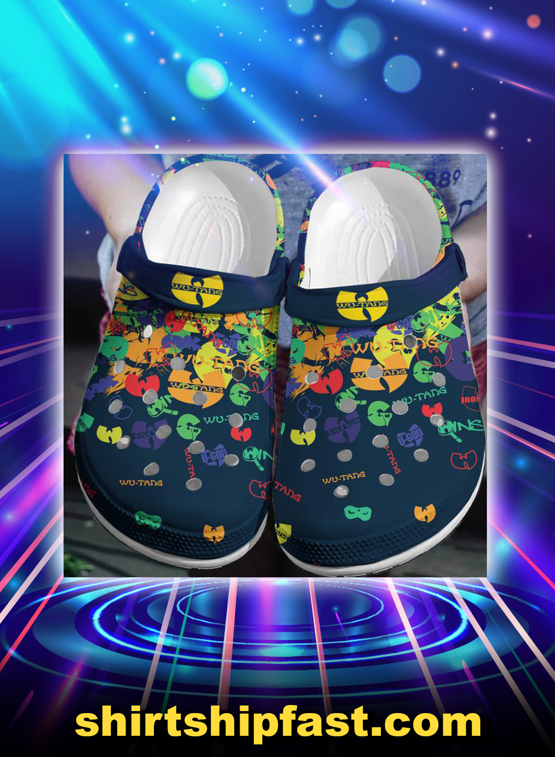 Wu-tang crocband crocs shoes - Picture 1