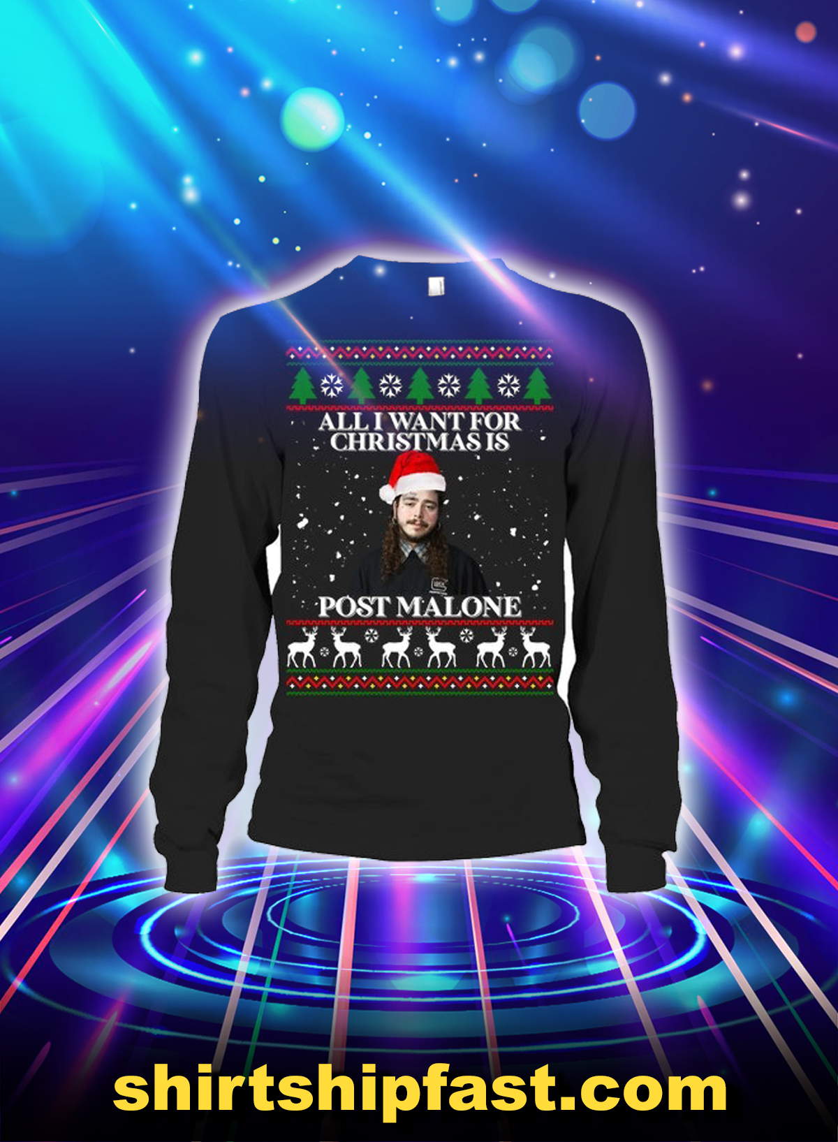 All i want for christmas is post malone long sleeve tee