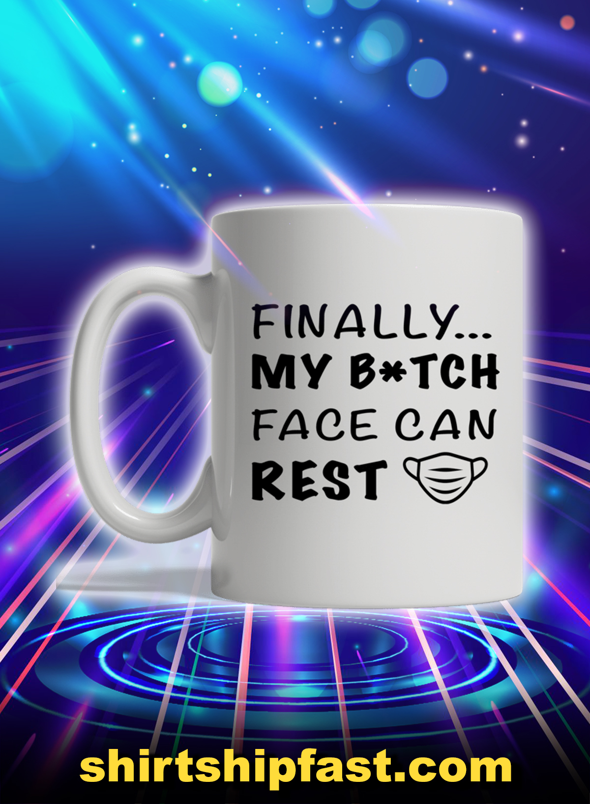 Finally my bitch face can rest mug - Picture 1