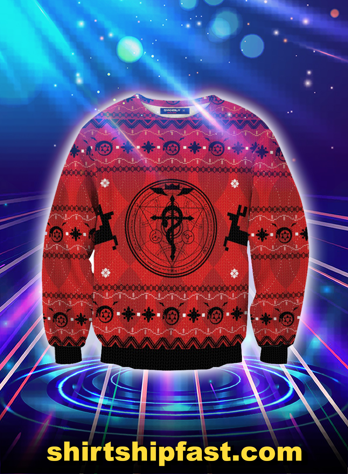 Fullmetal alchemist christmas sweater - Picture 1