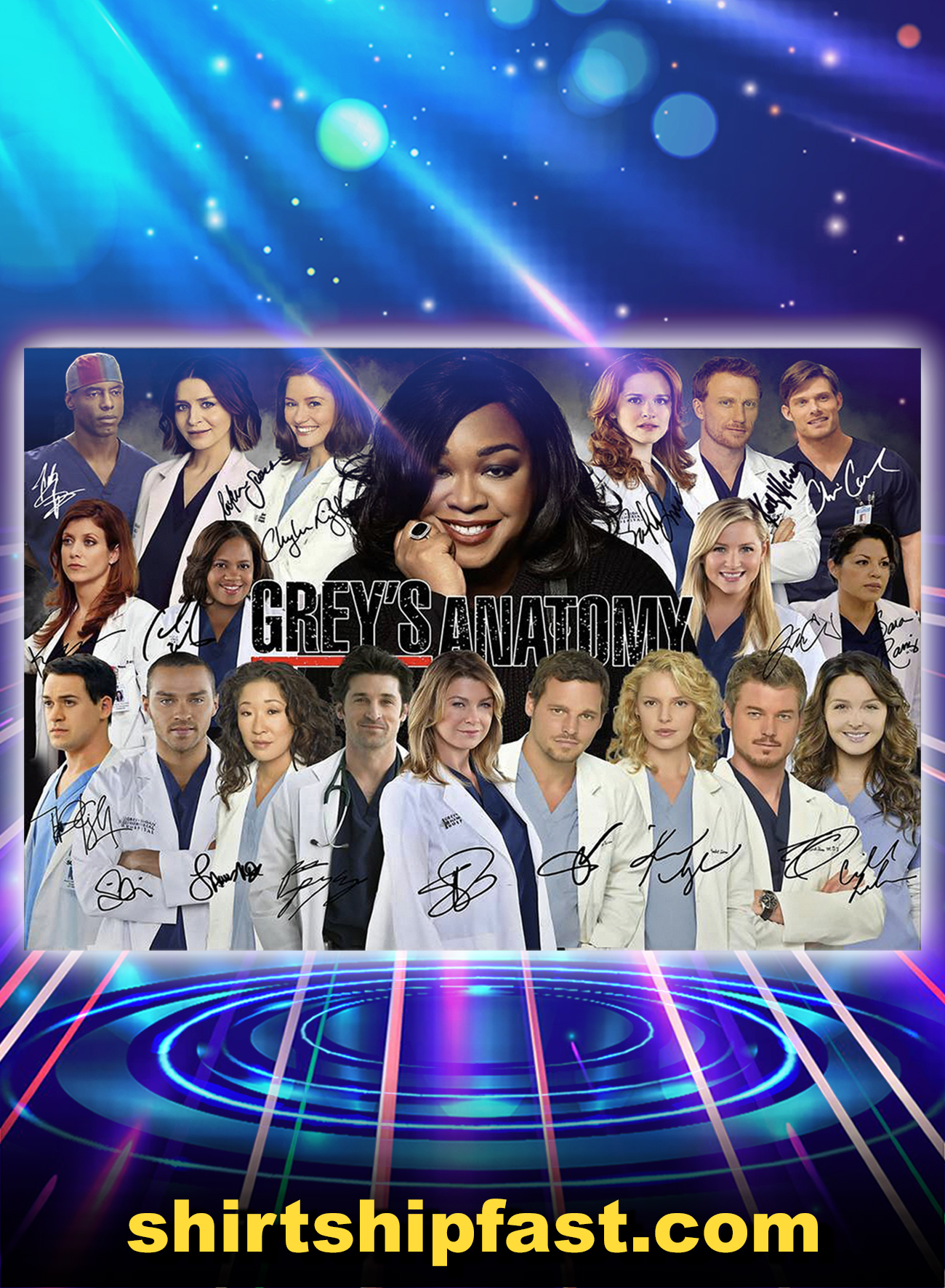 Grey's anatomy actor signature poster - A1