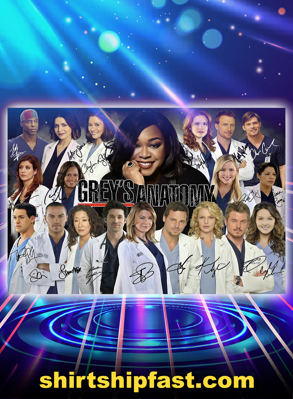 Grey's anatomy actor signature poster - A4