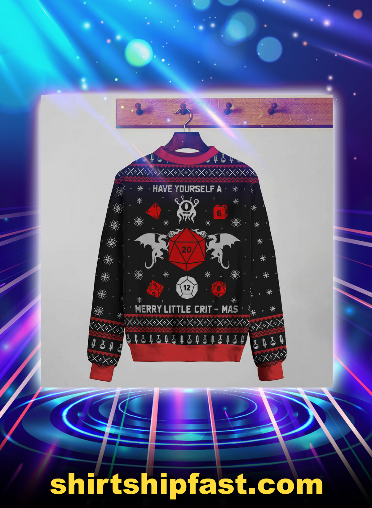 Have yourself a merry little crit-mas christmas sweater - Picture 1