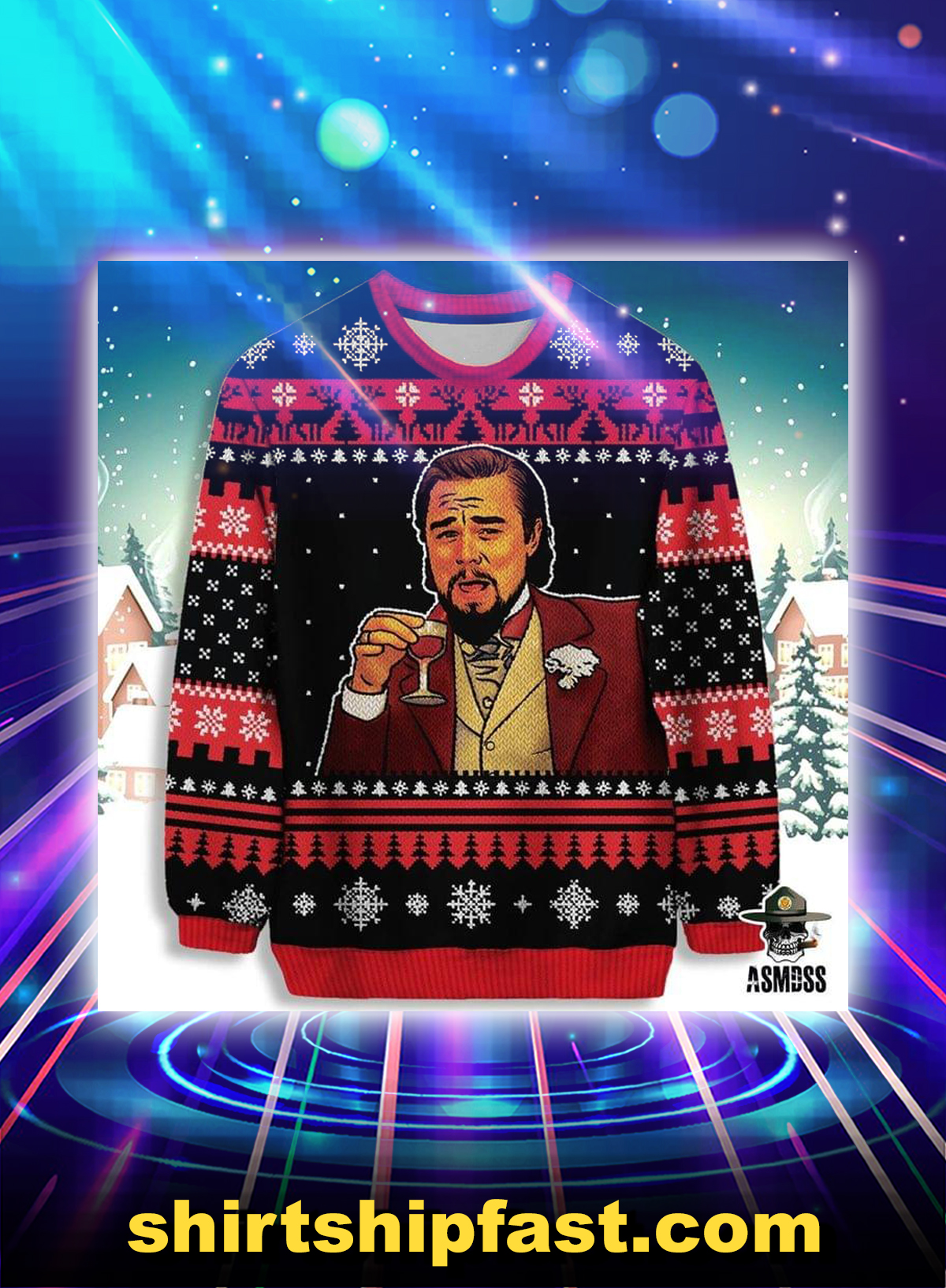 Leonardo DiCaprio ugly christmas sweater - Picture 1
