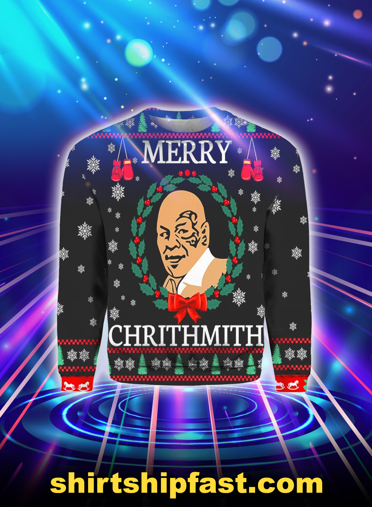 Mike Tyson merry chrithmith christmas sweater and hoodie