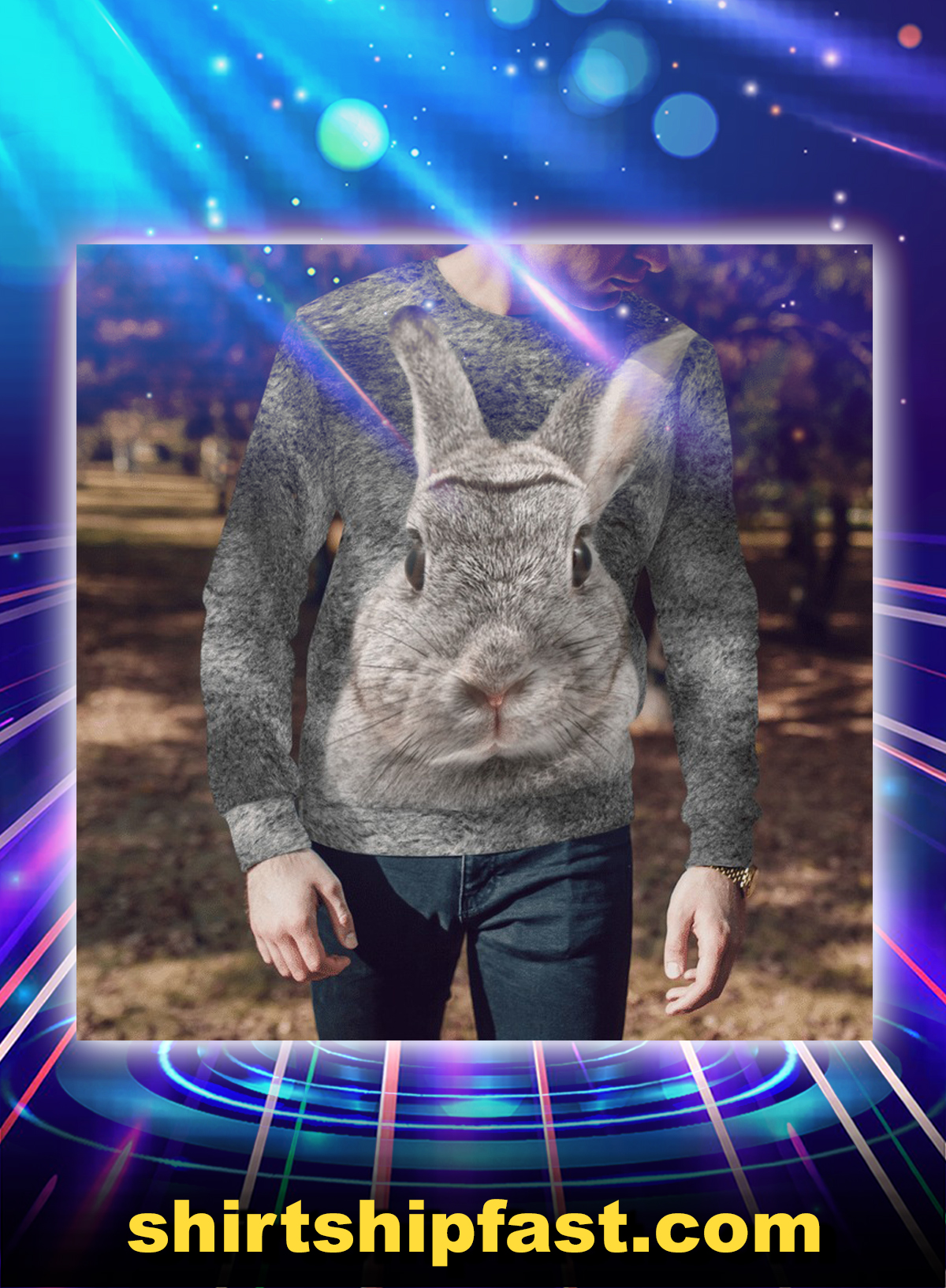 Rabbit all over printed sweatshirt - Picture 1