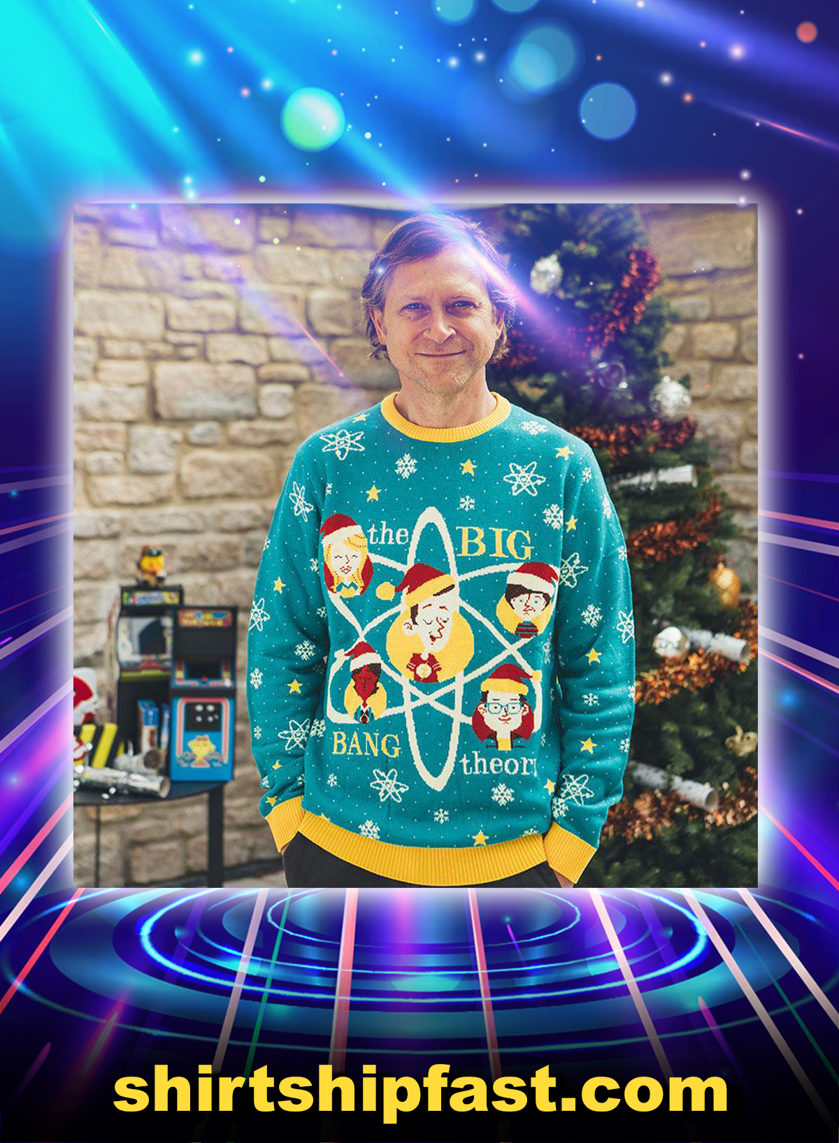 The big bang theory ugly christmas sweater and jumper - Picture 1