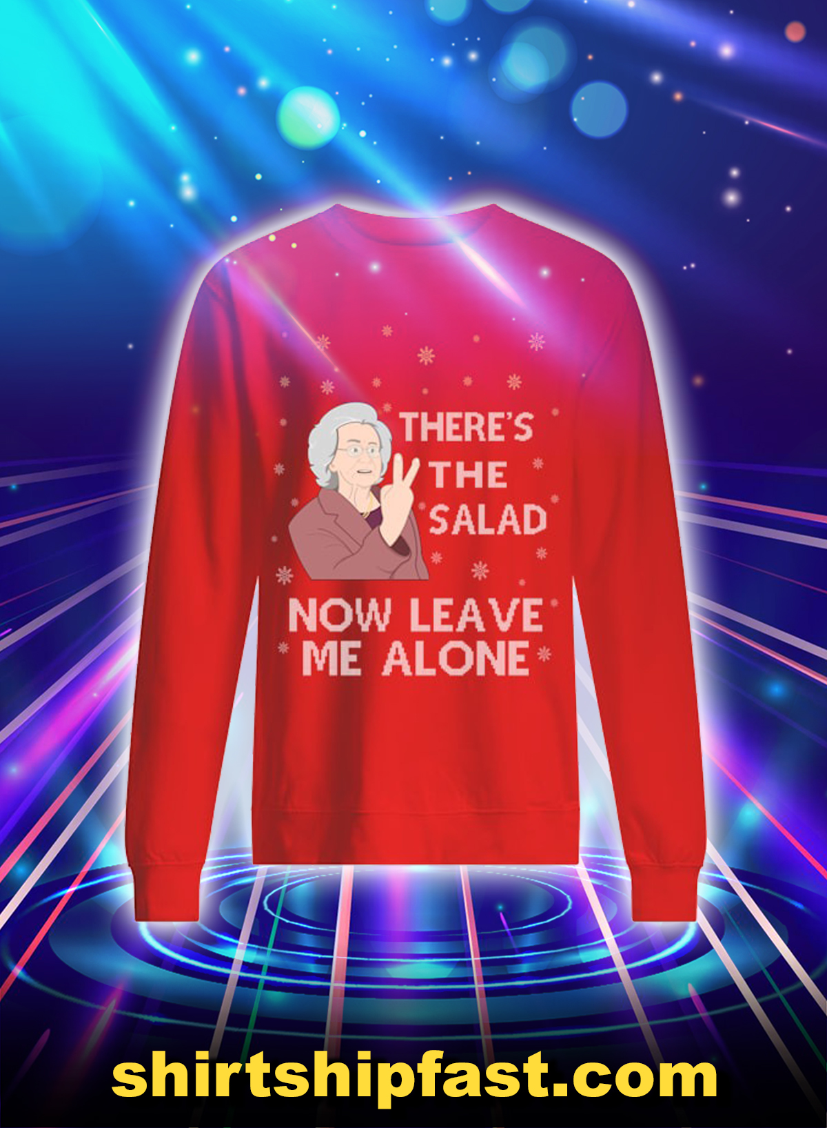 There's the salad now leave me alone sweatshirt and jumper - Red