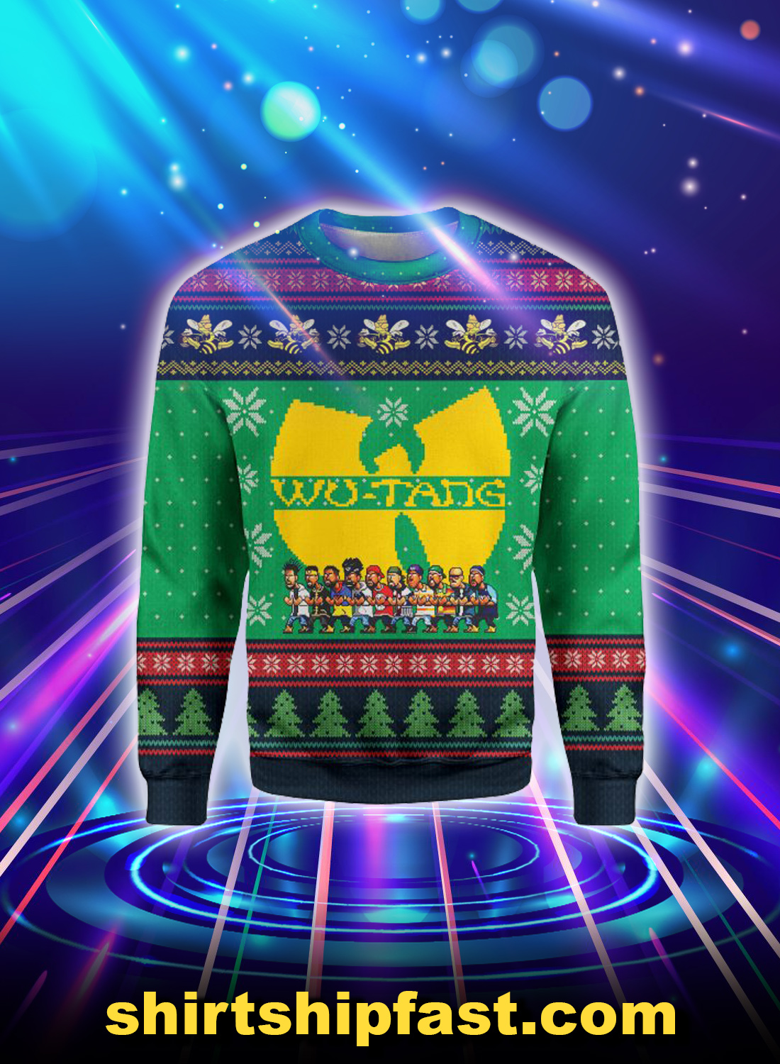 Wu-Tang clan christmas 3d all over print Sweatshirt
