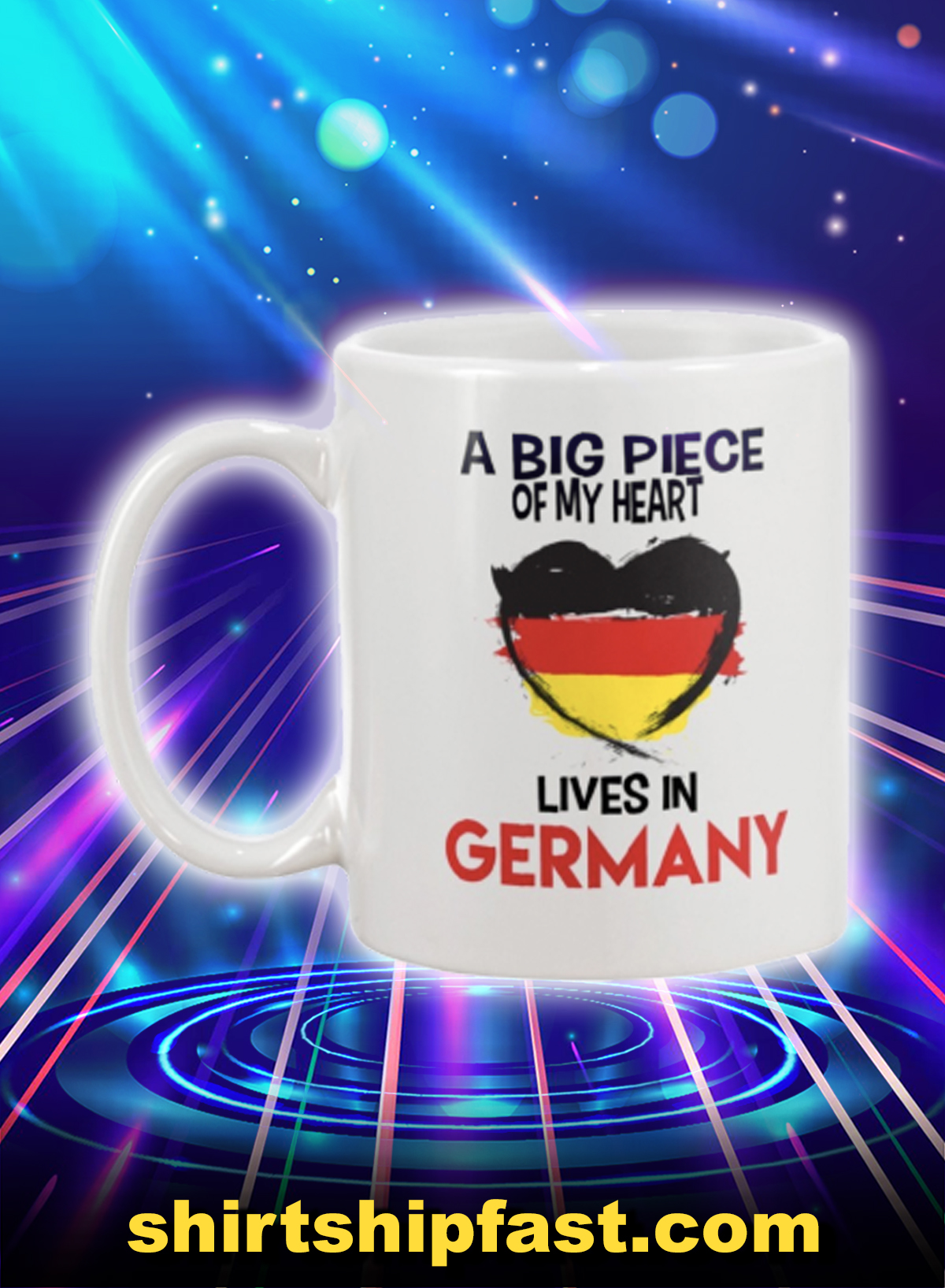 A big piece of my heart lives in germany mug - Picture 1