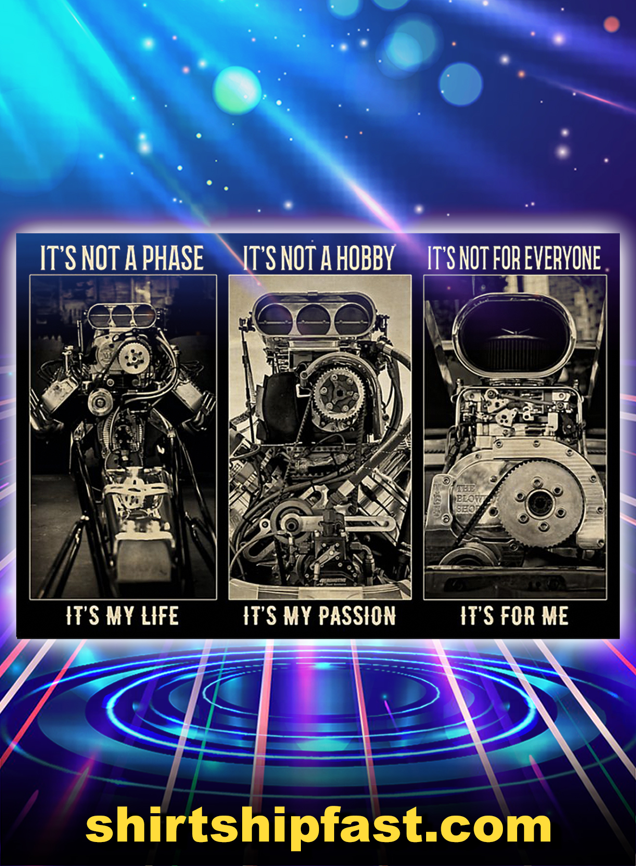 BW engine It's not a phase It's not a hobby It's not for everyone poster - A1