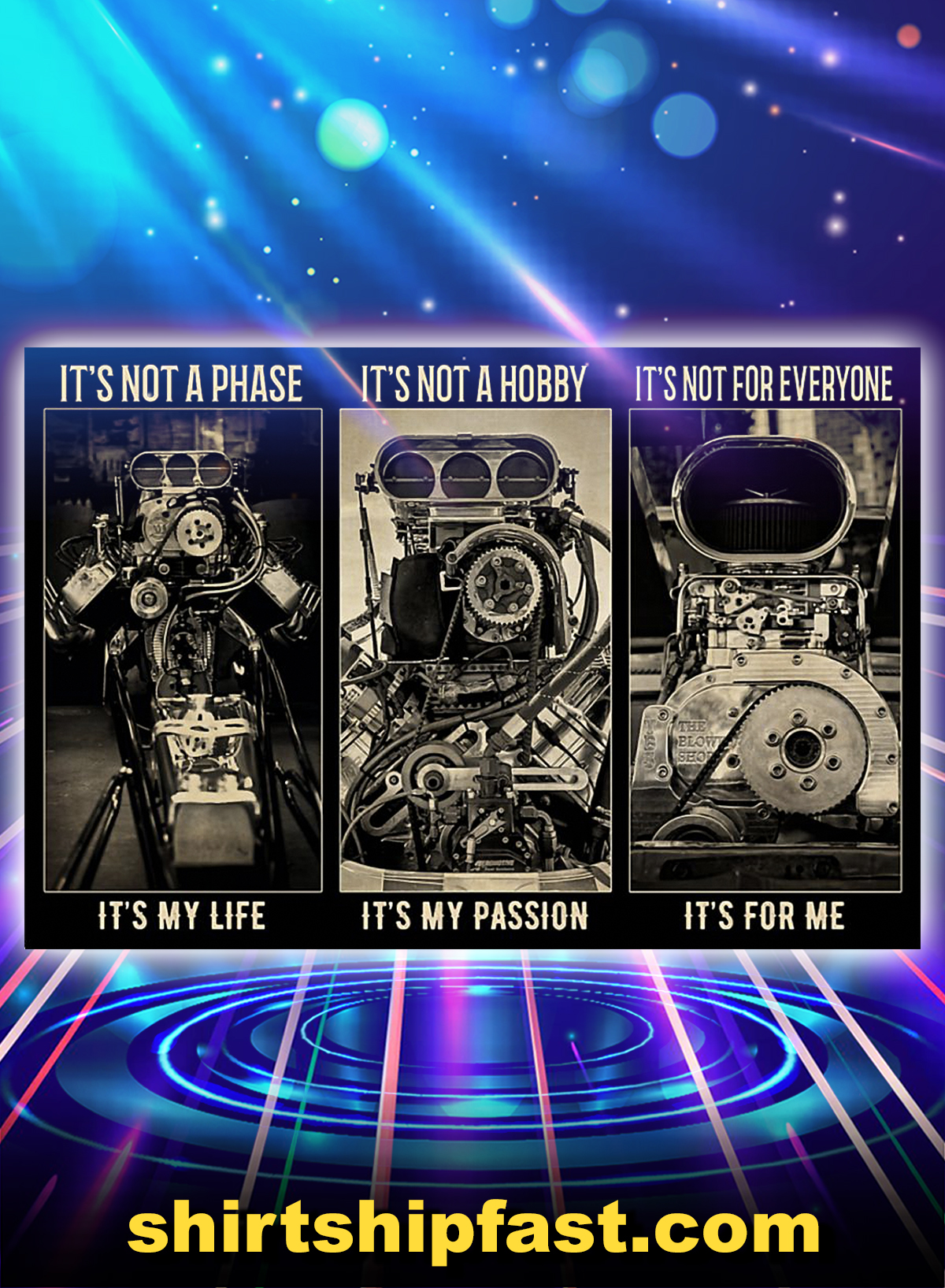 BW engine It's not a phase It's not a hobby It's not for everyone poster - A4