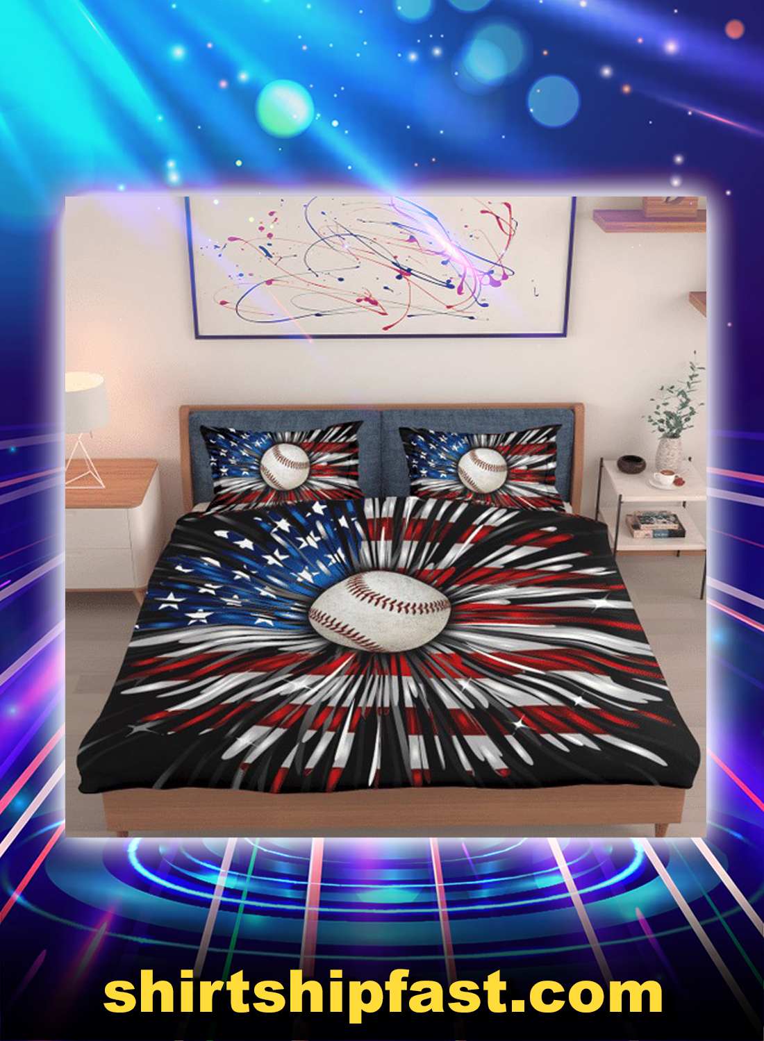 Baseball american firework bed set - Picture 1