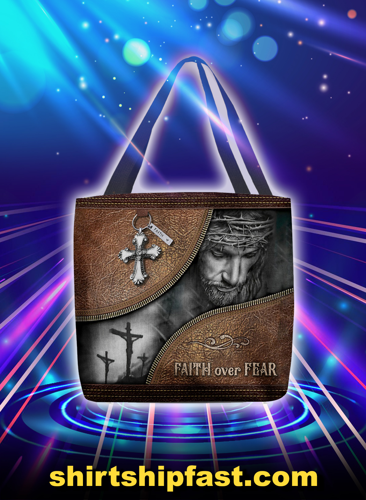 Faith over fear tote bag - Picture 1