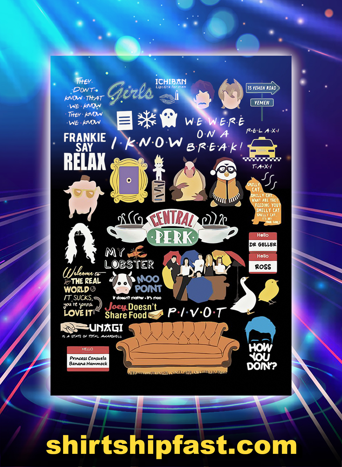 Friends quotes poster - A1