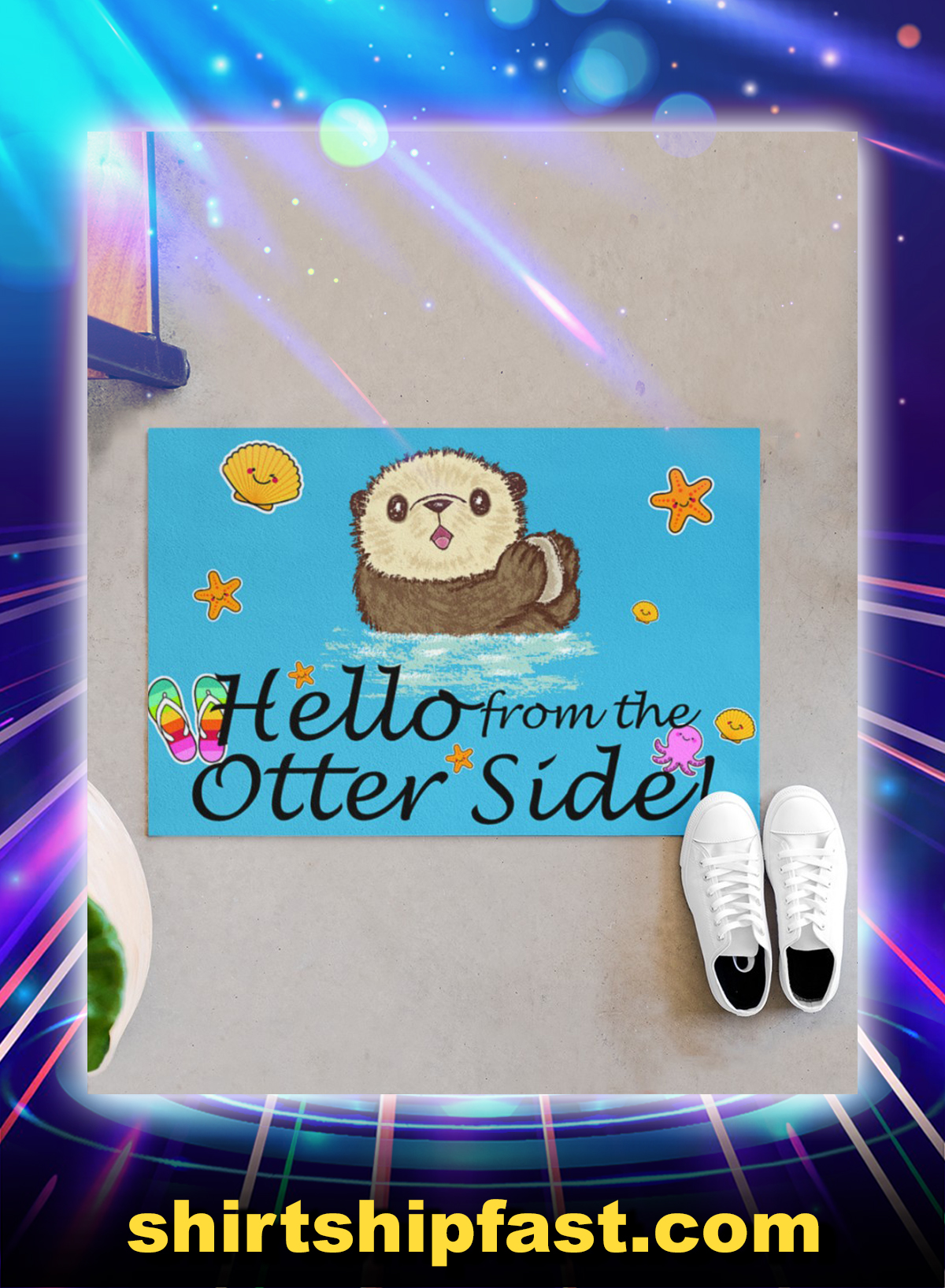 Hello from the otter side doormat - Picture 1