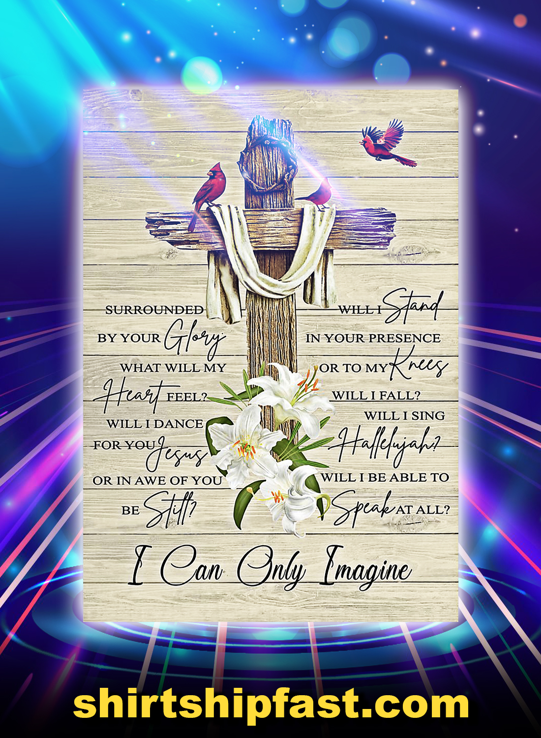 I can only imagine poster - A4